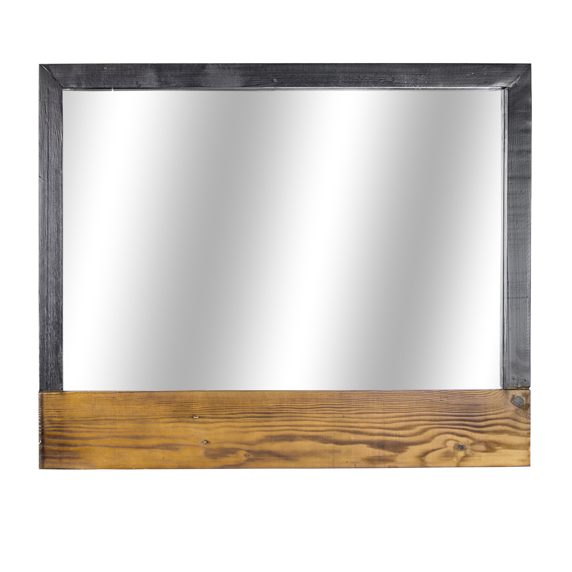 Delicia Decor Rustic Wood Hanging Wall Mirror With Recent Rustic Wood Wall Mirrors (View 3 of 20)
