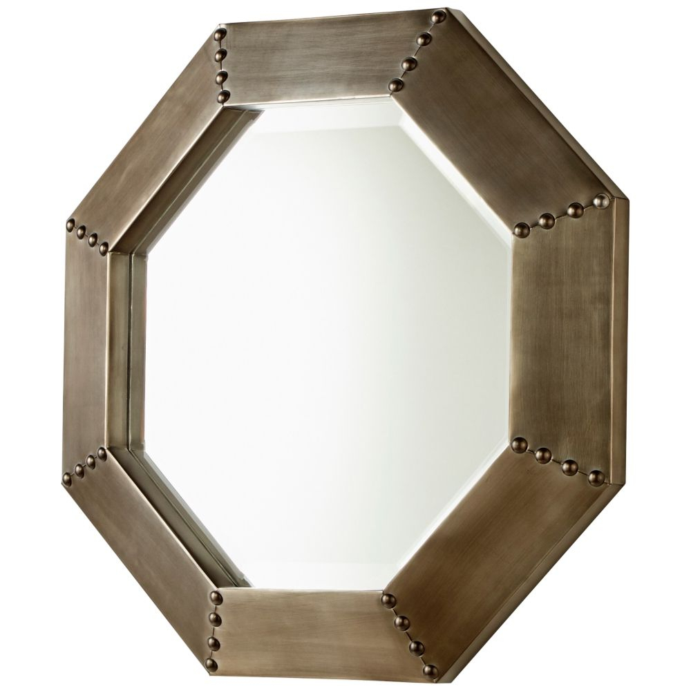 "Derick Accent Mirrors Within Widely Used Cyan Design Silver 19"" X 19"" Octagon Wall Mirror – Style # 23M (View 6 of 20)"