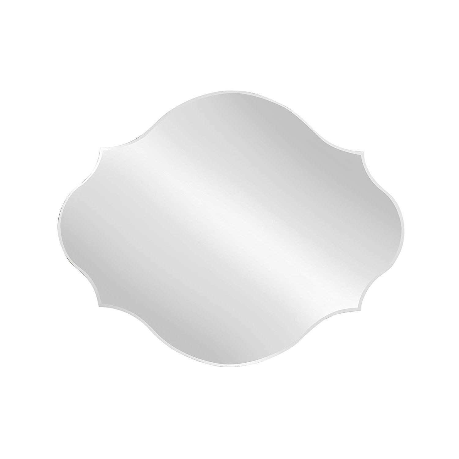 Designovation Reign Frameless Oval Scalloped Beveled Mirror, 16X20 Intended For Well Known Reign Frameless Oval Scalloped Beveled Wall Mirrors (View 4 of 20)
