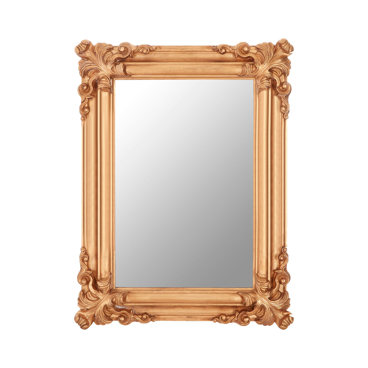 Details About Georgia Wall Mirror Polyresin & Wood Back Gold Frame Retro Vintage Style With Well Known Vintage Style Wall Mirrors (View 6 of 20)