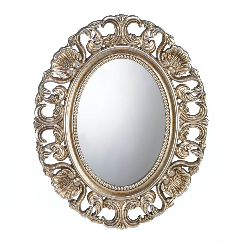 Details About Mirrors For Wall, Antique Art Decorative Bathroom Wall Mirrors Round (gold) Intended For Well Known Round Decorative Wall Mirrors (View 10 of 20)