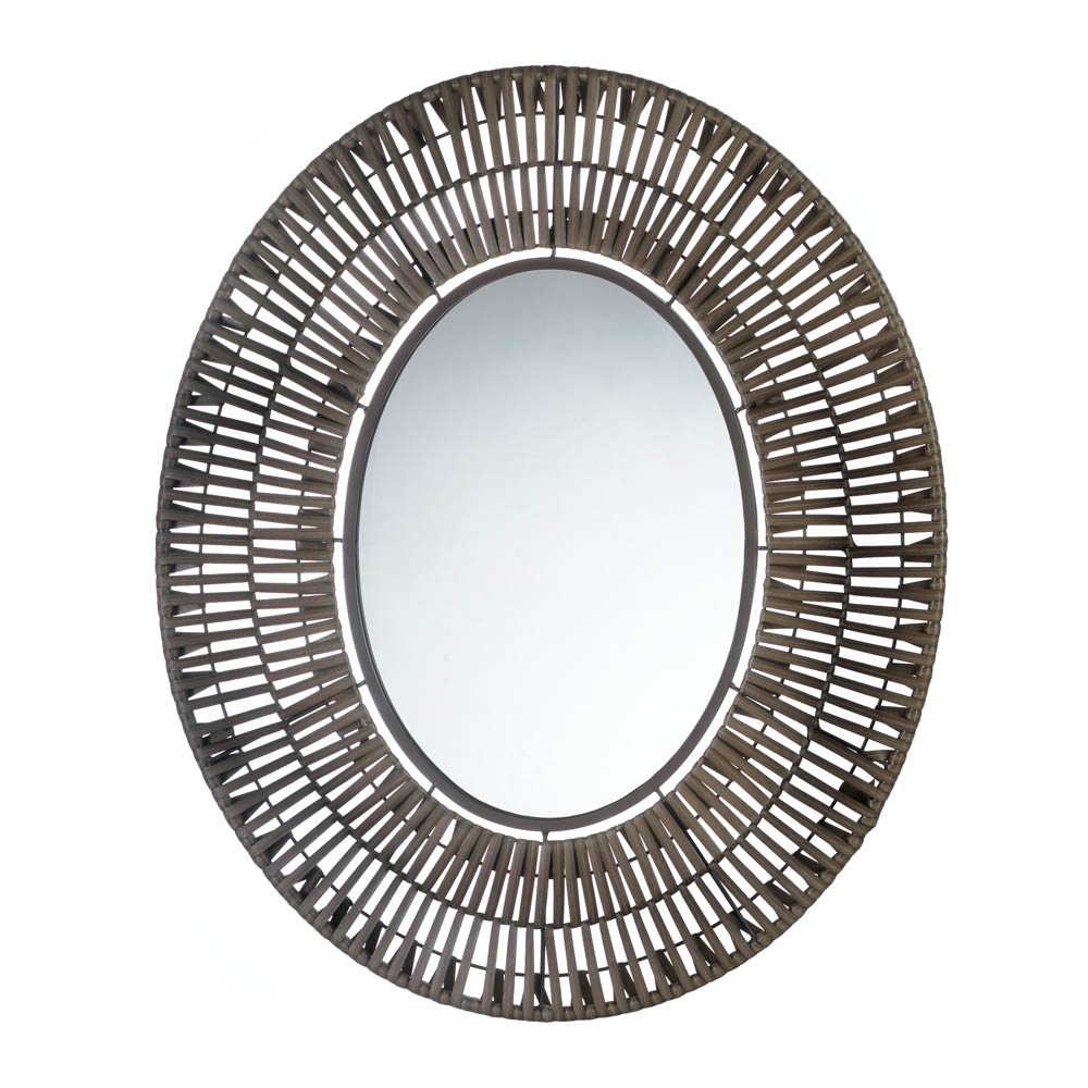 Details About Mirrors For Wall, Antique Decorative Wall Mirrors, Faux Rattan Oval Wall Mirror Throughout Popular Elegant Wall Mirrors (View 19 of 20)