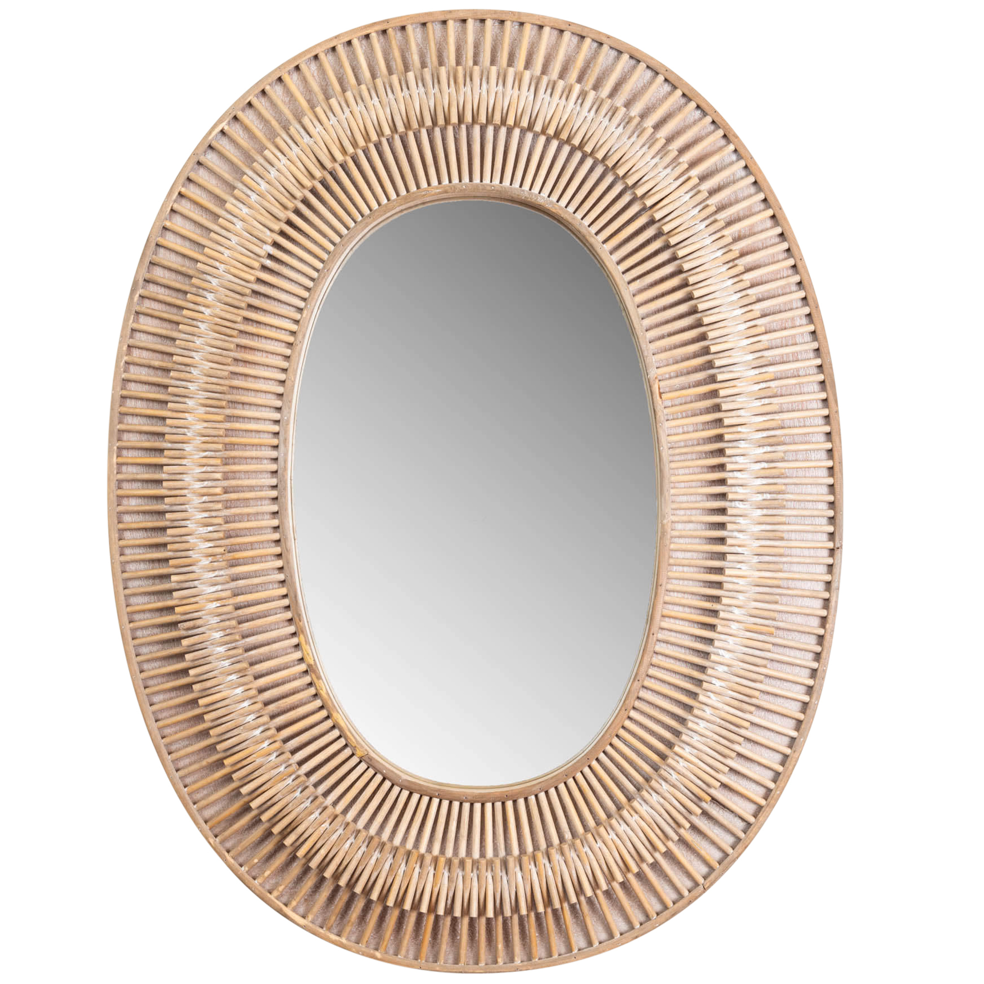 Details About New Natural Silas Oval Rattan Wall Mirror – Sunday Homewares,mirrors Inside Famous Rattan Wall Mirrors (View 17 of 20)