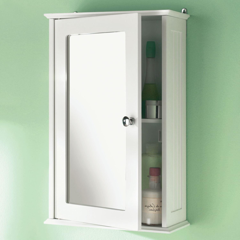 Details About Single Mirror Door Bathroom Cabinet Wooden Indoor Wall  Mountable Bathroom Shelf In Most Up To Date Bathroom Wall Mirror Cabinets (View 9 of 20)