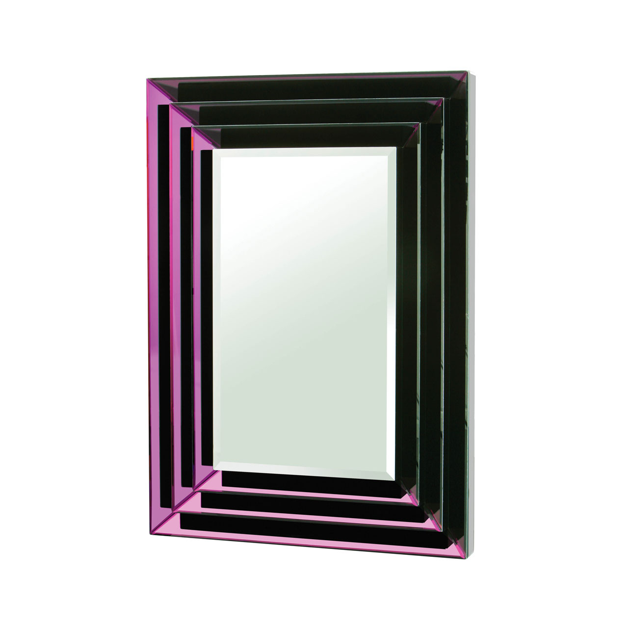 Details About Wall Mirror Purple Mirrored Frame Rectangular Home Décor With Regard To Most Recent Purple Wall Mirrors (View 4 of 20)
