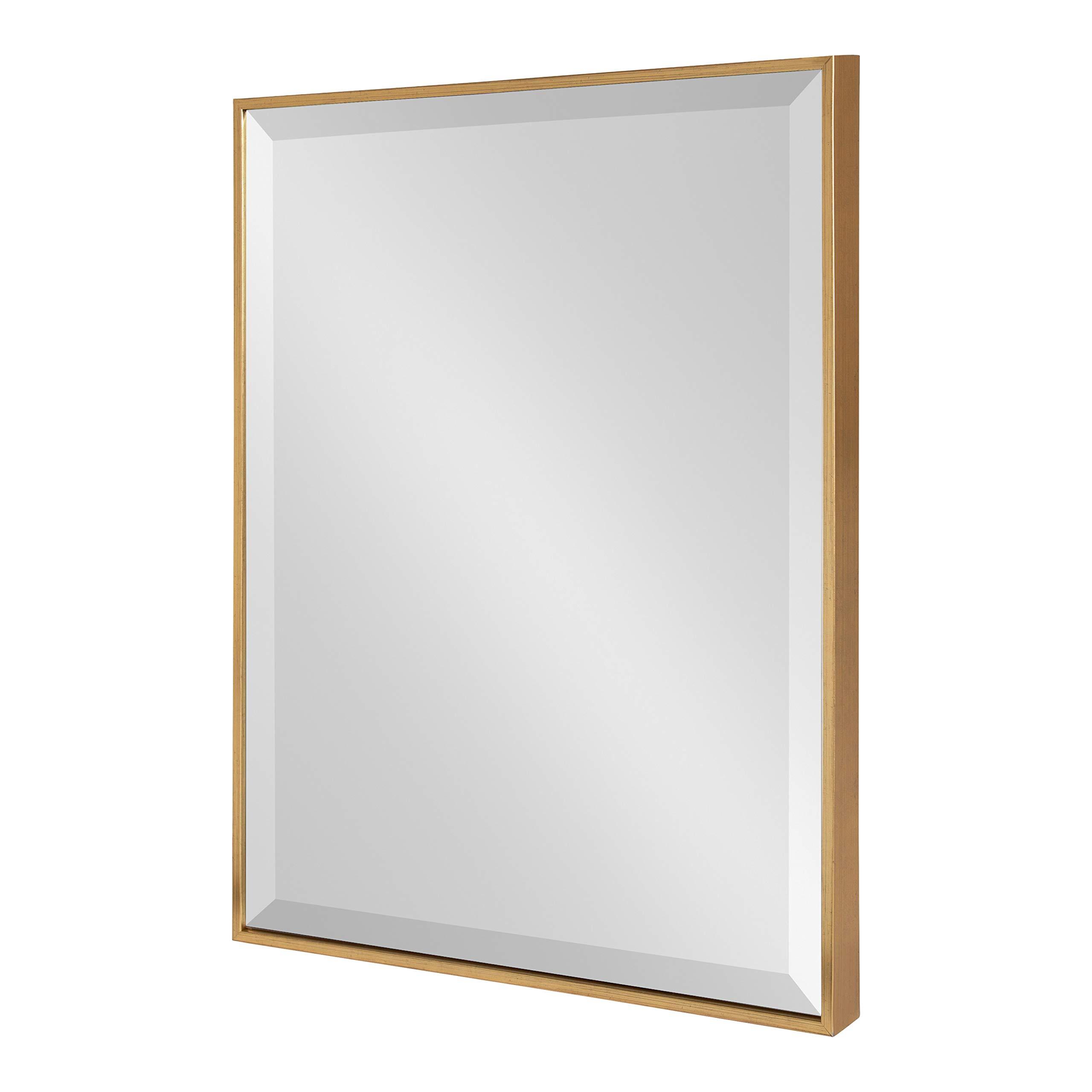 Detalles Acerca De Kate And Laurel Rhodes Enmarcado Rectángulo Decorativo  Espejo De Pared, 22 X 28 Oro  Mostrar Título Original Within Well Liked Caja Rectangle Glass Frame Wall Mirrors (View 14 of 20)