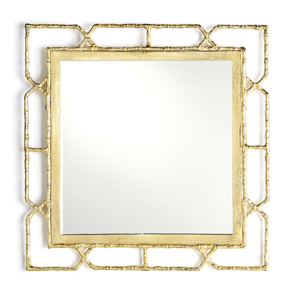 Deverick Gold Frame Wall Mirror Intended For Current Gold Framed Wall Mirrors (View 19 of 20)