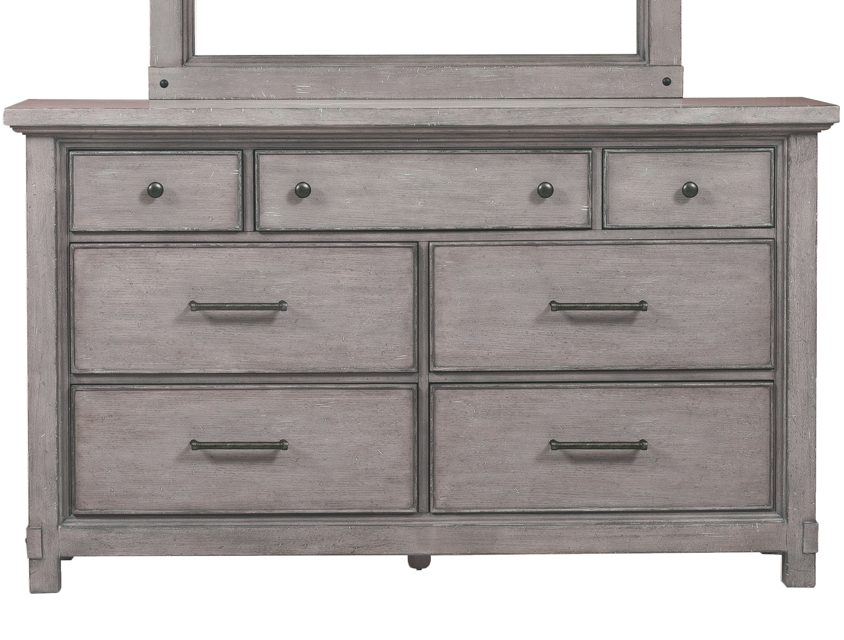Devers 7 Drawer Dresser For Fashionable Diamondville Modern & Contemporary Distressed Accent Mirrors (View 16 of 20)