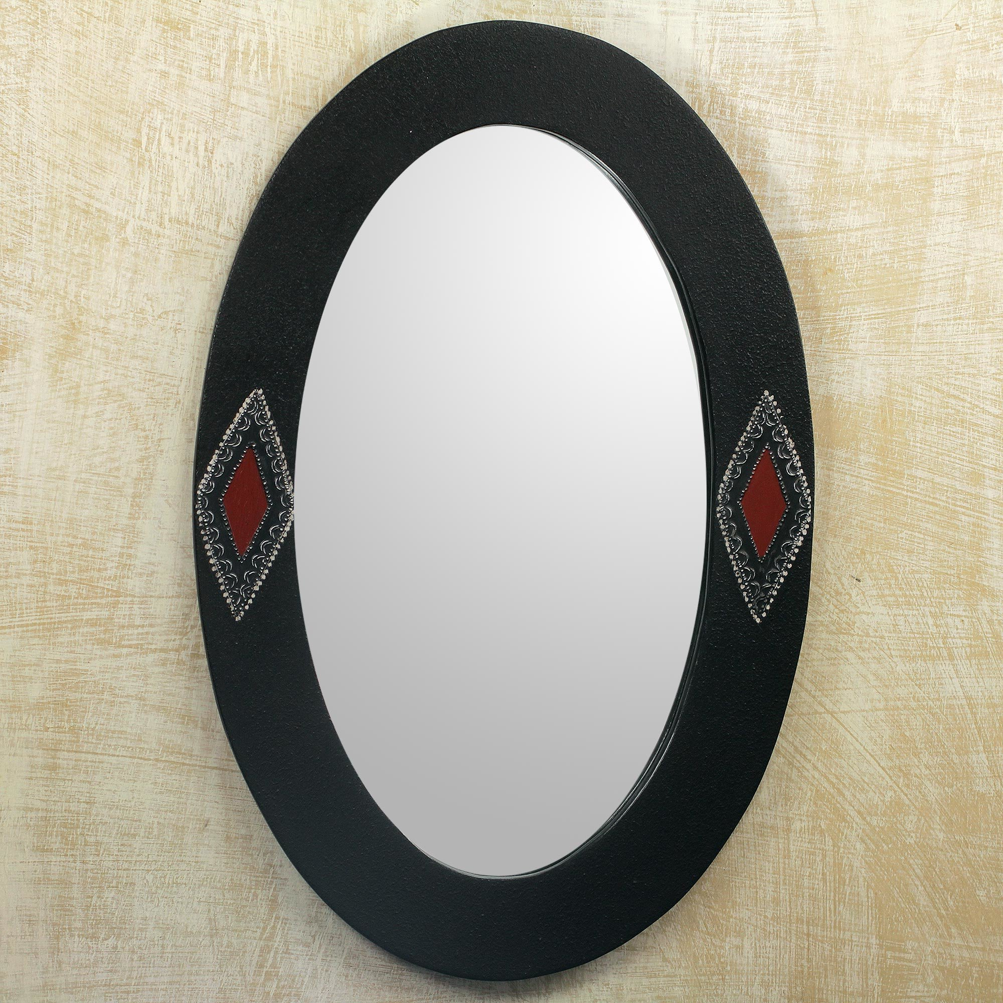 Diamond Eyes Oval Shaped Electric Wall Mirror Pertaining To Current Oval Shaped Wall Mirrors (View 4 of 20)