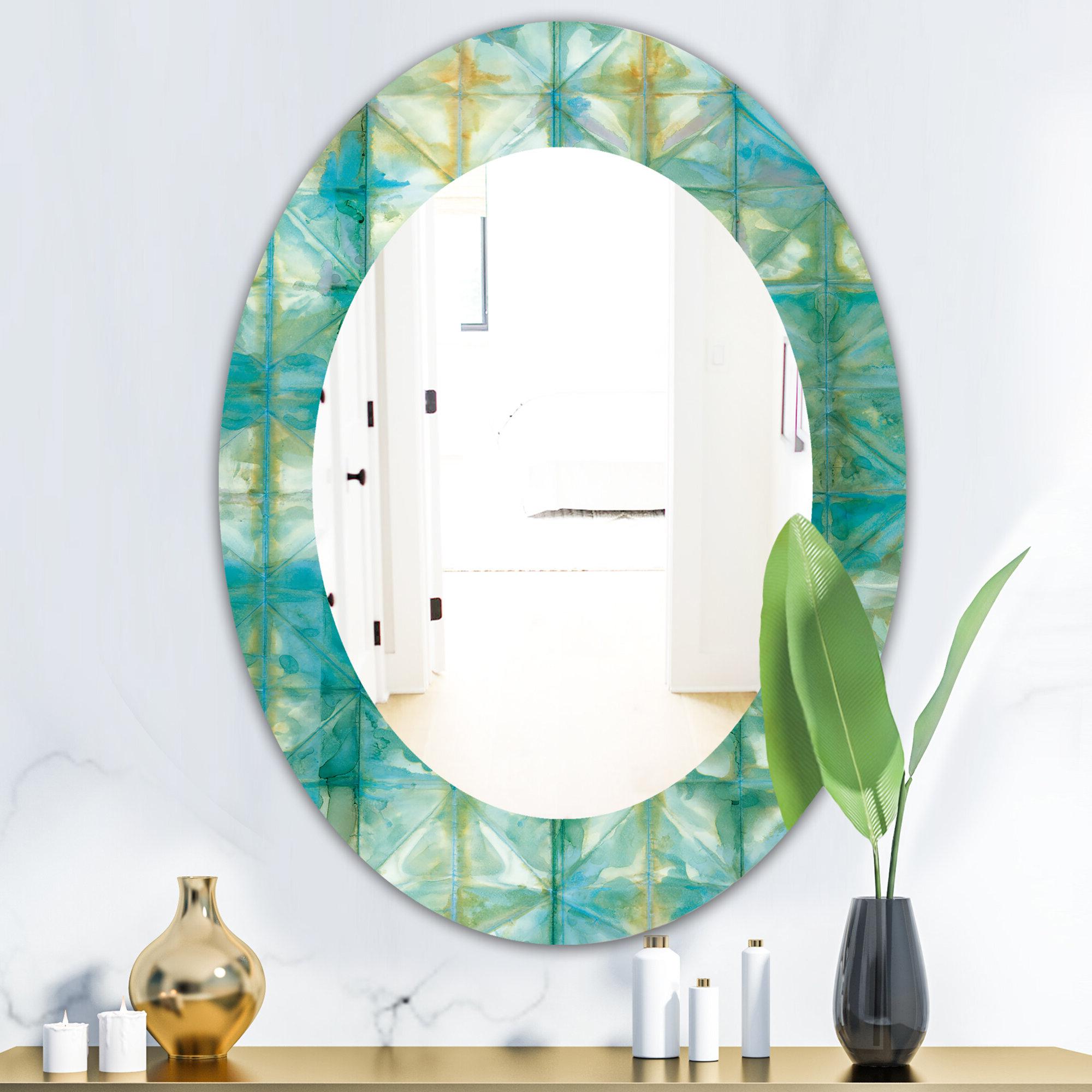 Diamonds Minimal Geometric I Mid Century Frameless Wall Mirror Inside 2019 Traditional Frameless Diamond Wall Mirrors (View 7 of 20)