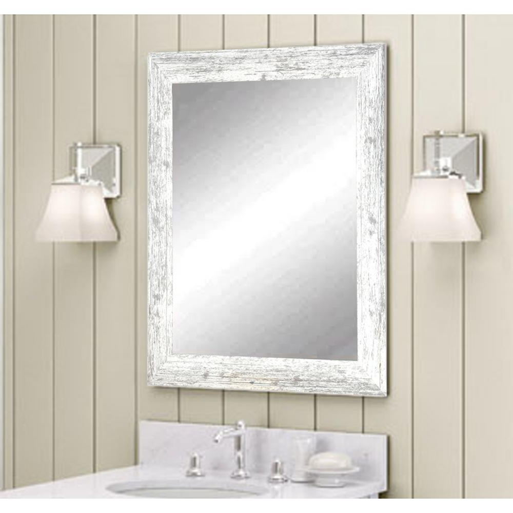 Distressed Decorative Rectangle White Wall Mirror Avsmall The Svg Regarding 2019 Small White Wall Mirrors (View 6 of 20)