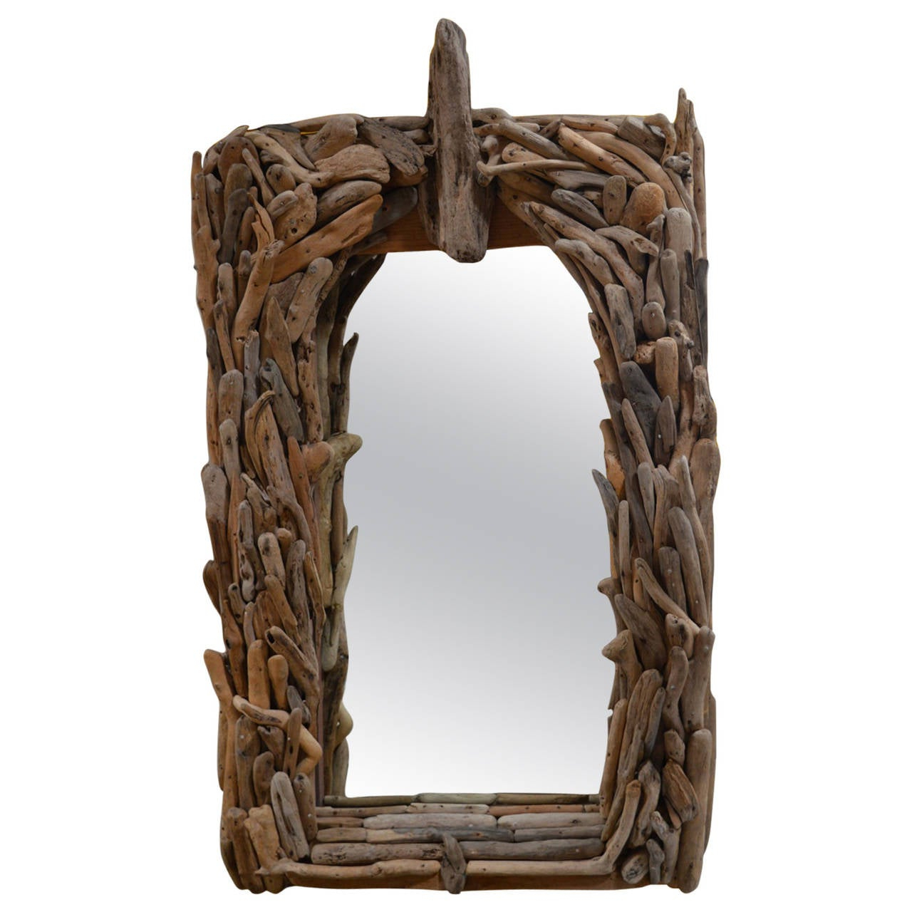 Distressed Wood Wall Mirrors Intended For Famous Distress Wood Wall Mirror (View 10 of 20)