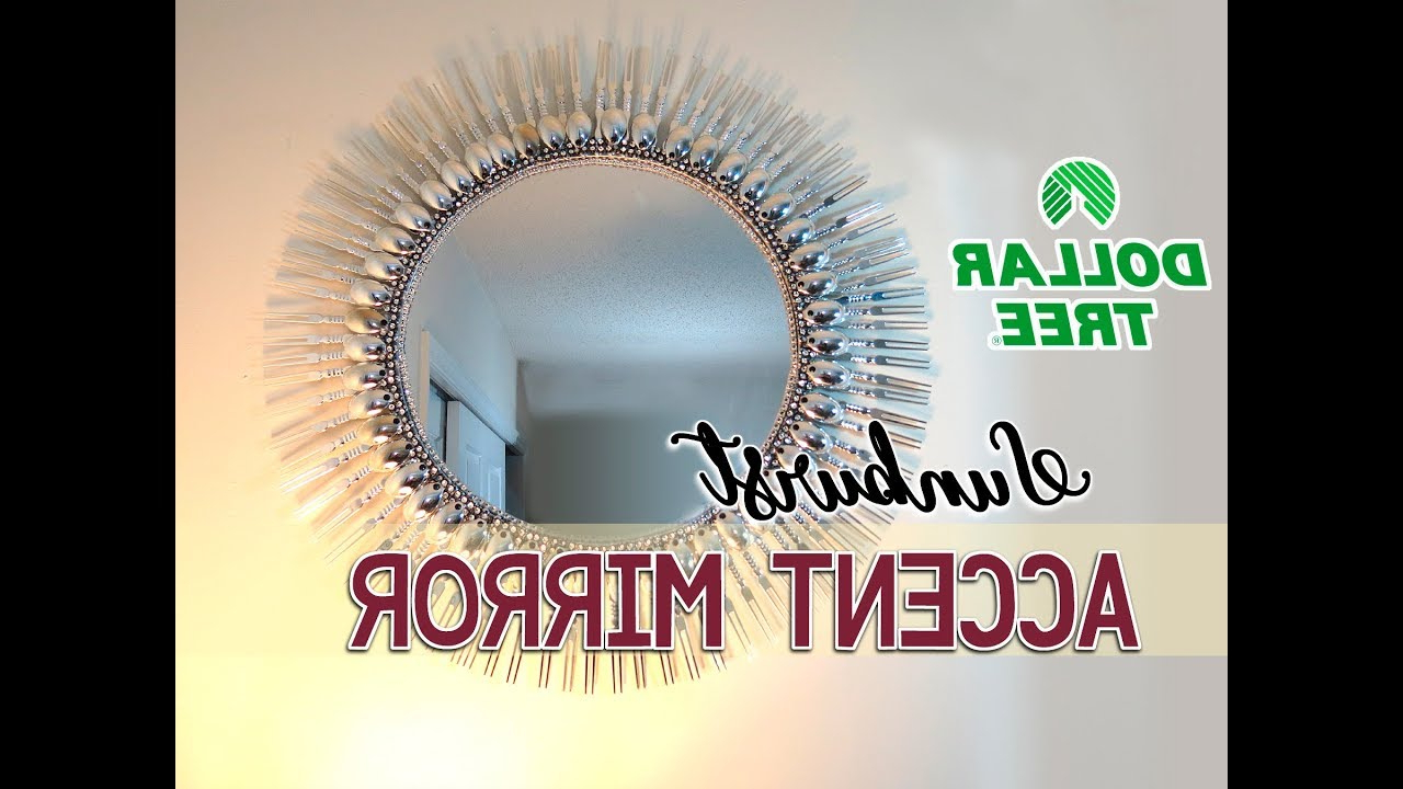 "Diy Dollar Tree 19"" Sunburst Accent Mirror – $12 For Newest Jarrod Sunburst Accent Mirrors (View 6 of 20)"