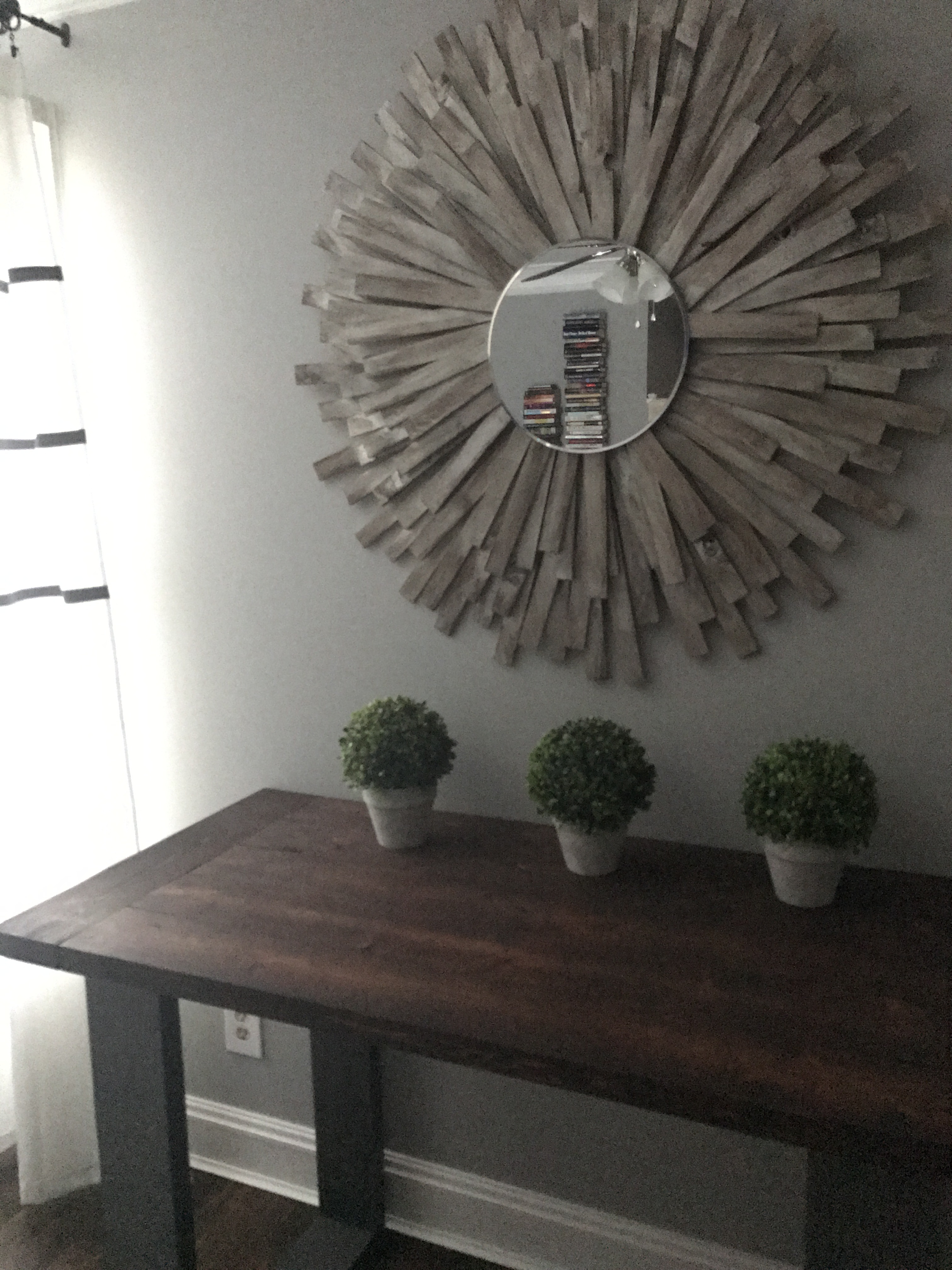 Diy Large Wall Mirror Intended For Latest Sunburst Mirror Diy Cheap And Creative Wall Art With Wood Shims (View 3 of 20)