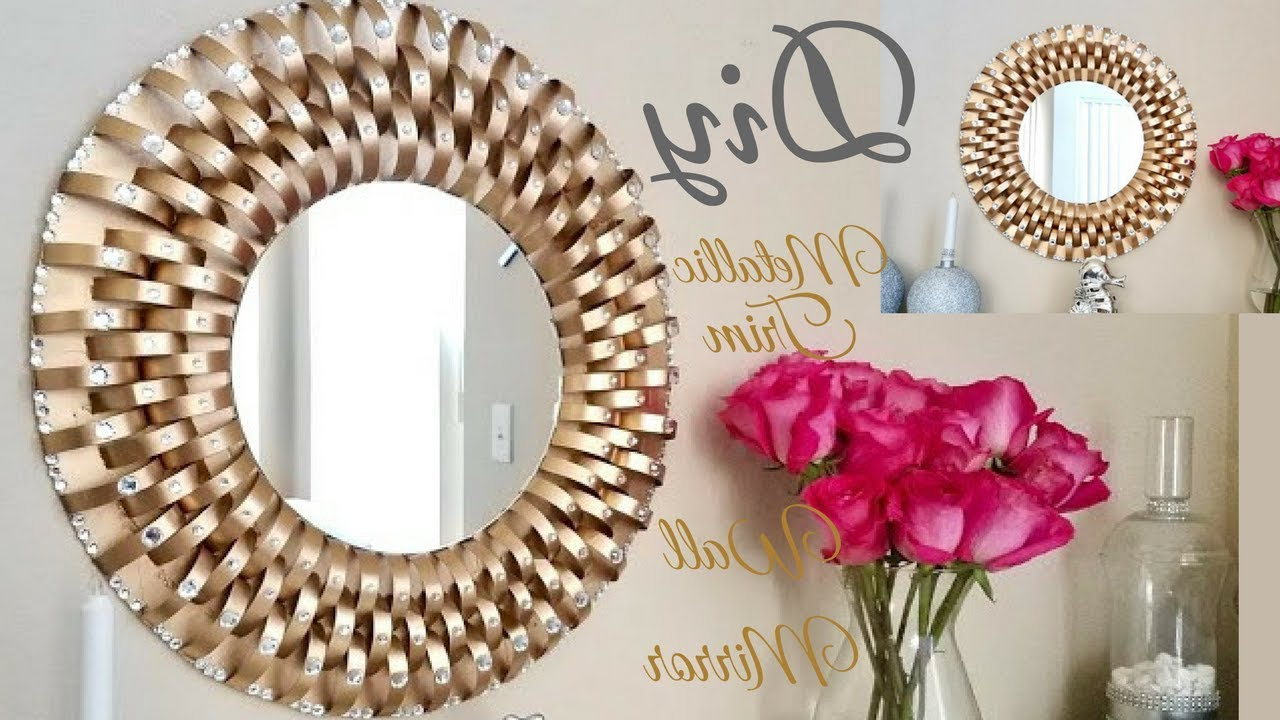Diy Metallic Trim Wall Mirror (View 7 of 20)