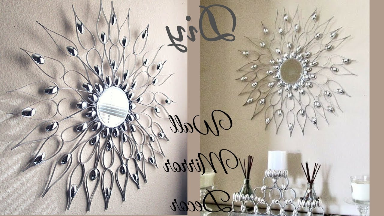 Diy Quick And Easy Glam Wall Mirror Decor (Gallery 14 of 20)