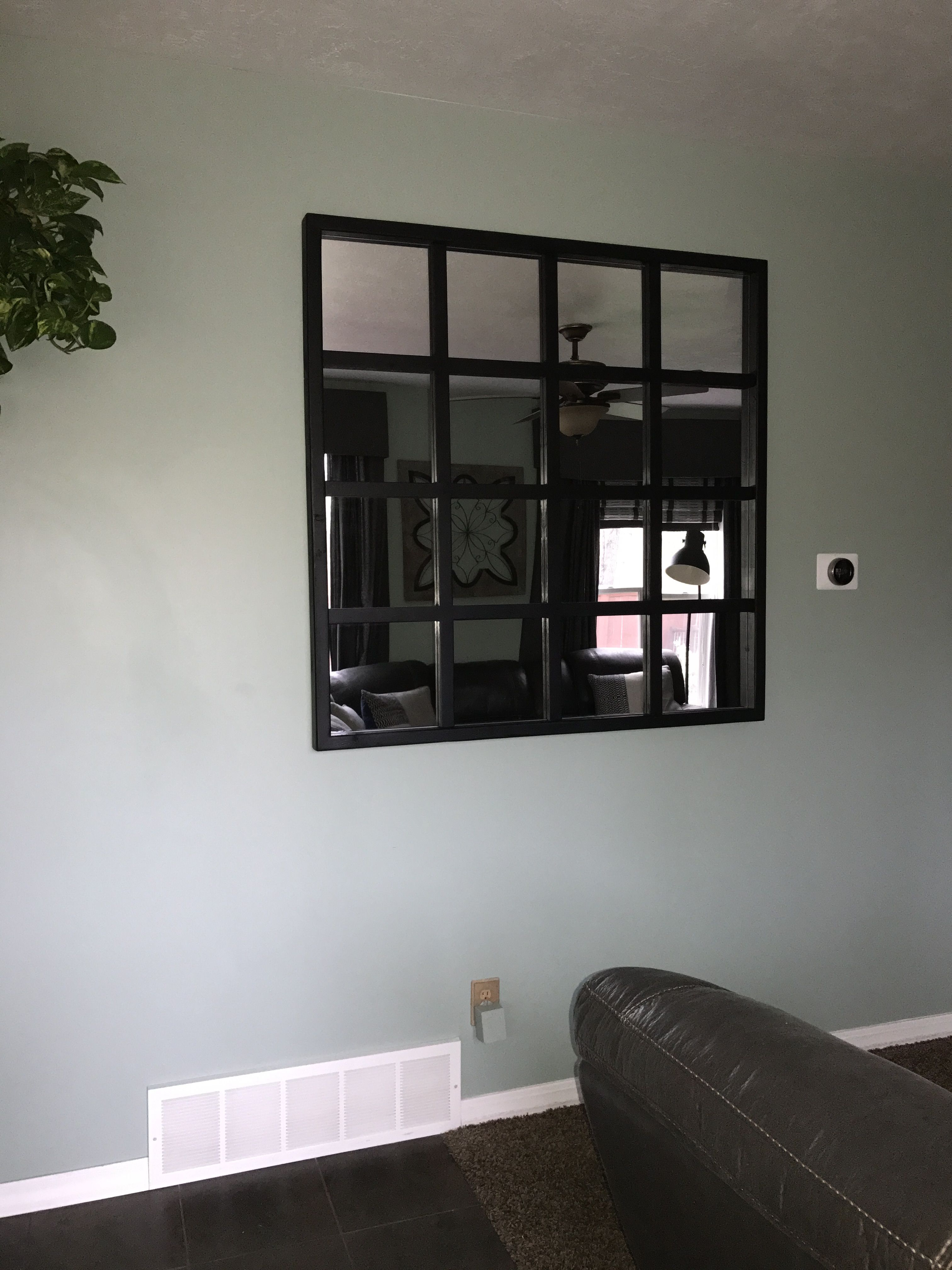 Diy Window Pane Mirror. Grid Mirror (View 3 of 20)
