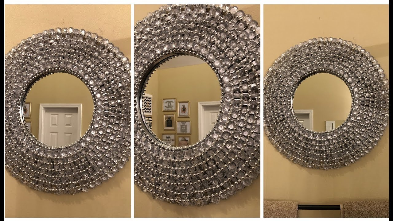 Dollar Tree Diy – 💕 Glam Wall Mirror 💕 For Most Up To Date Rhinestone Wall Mirrors (View 16 of 20)