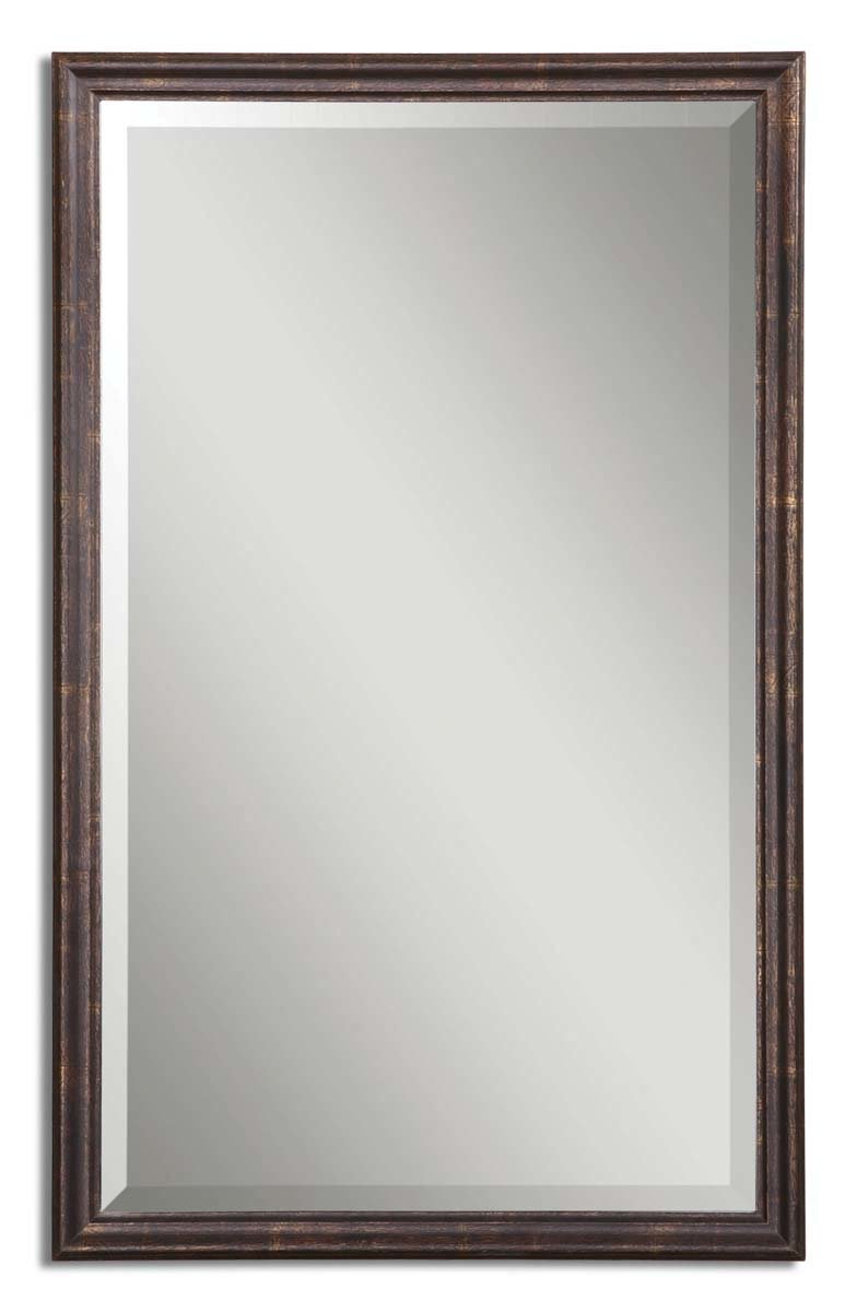 Durr Vanity Mirror With Most Popular Kristy Rectangular Beveled Vanity Mirrors In Distressed (View 9 of 20)
