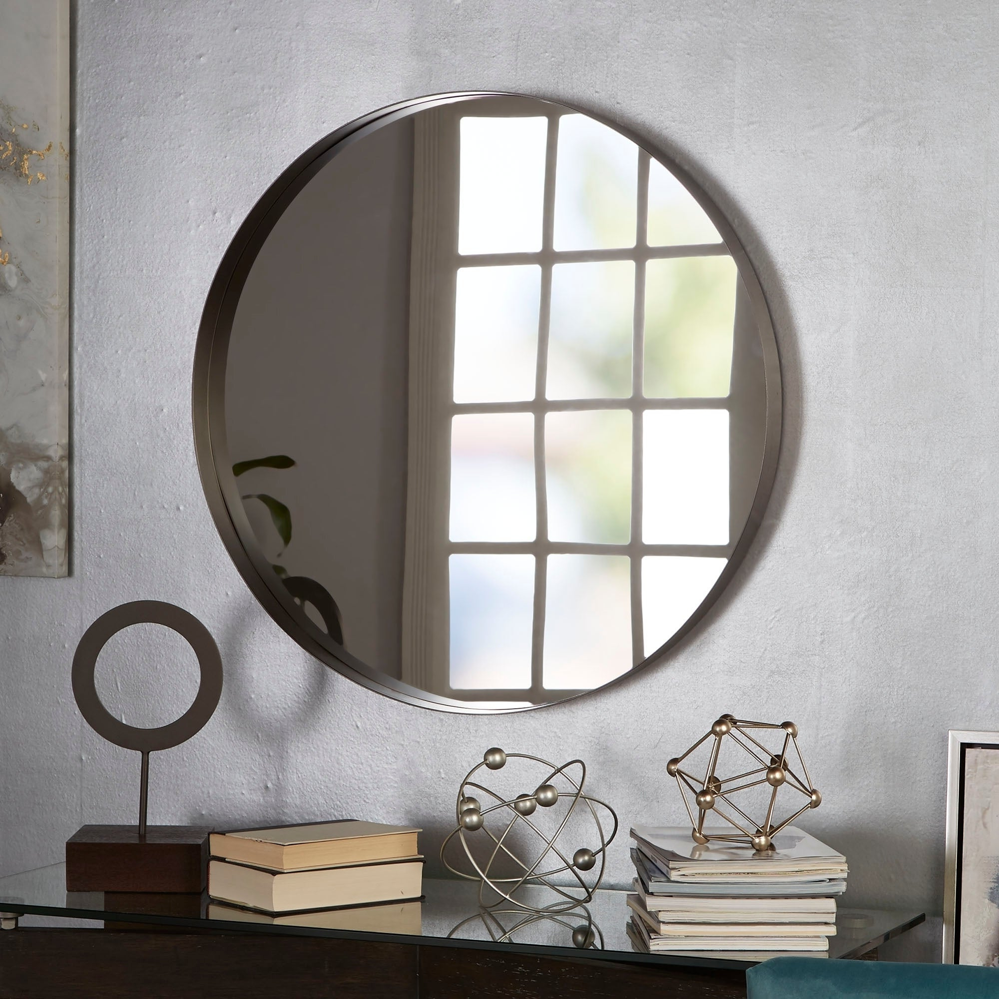 Eagan Round Metal Wall Mirror With Regard To Best And Newest Round Metal Wall Mirrors (View 12 of 20)