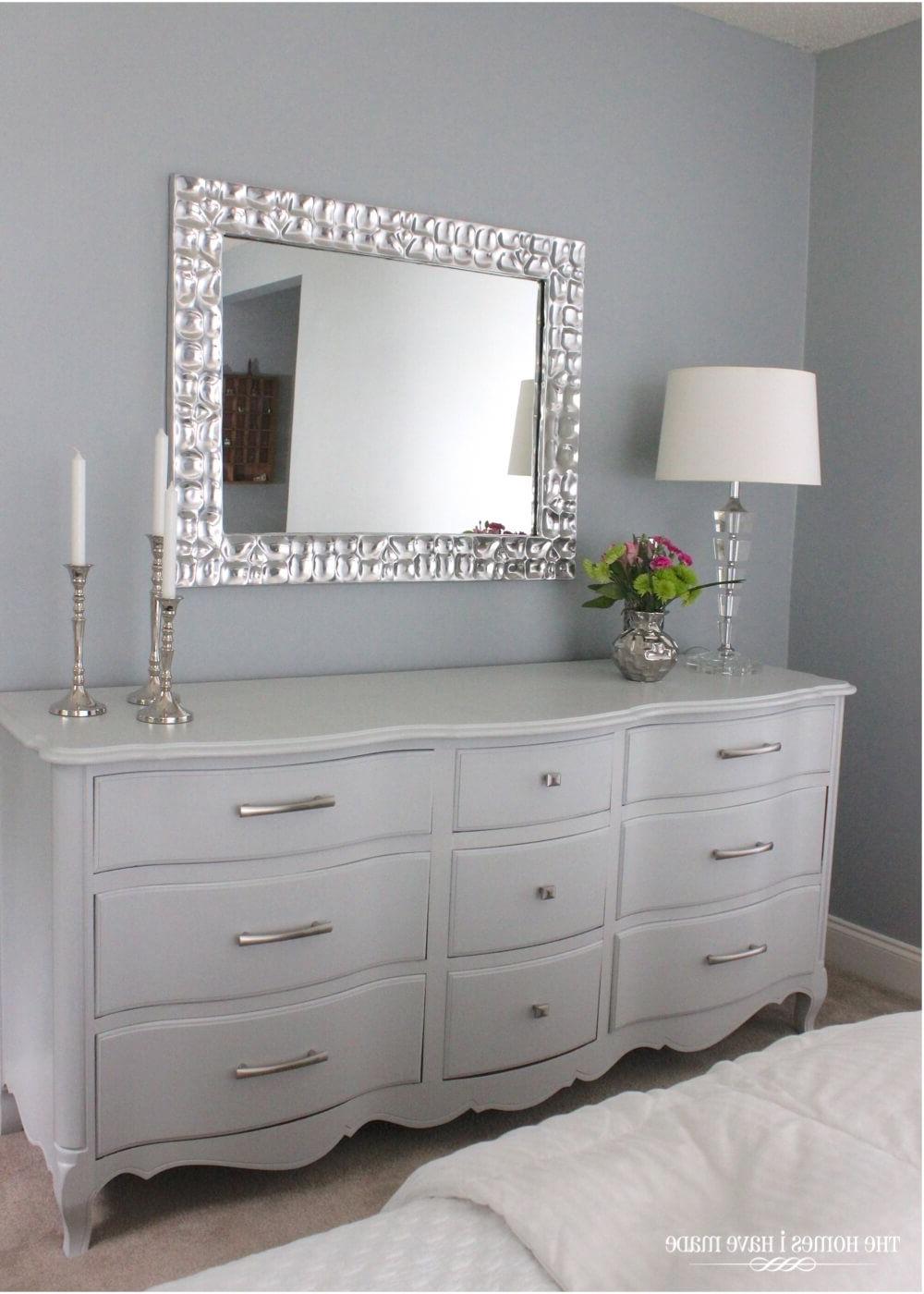 Elegant Modern Silver Framed Mirror (View 9 of 20)
