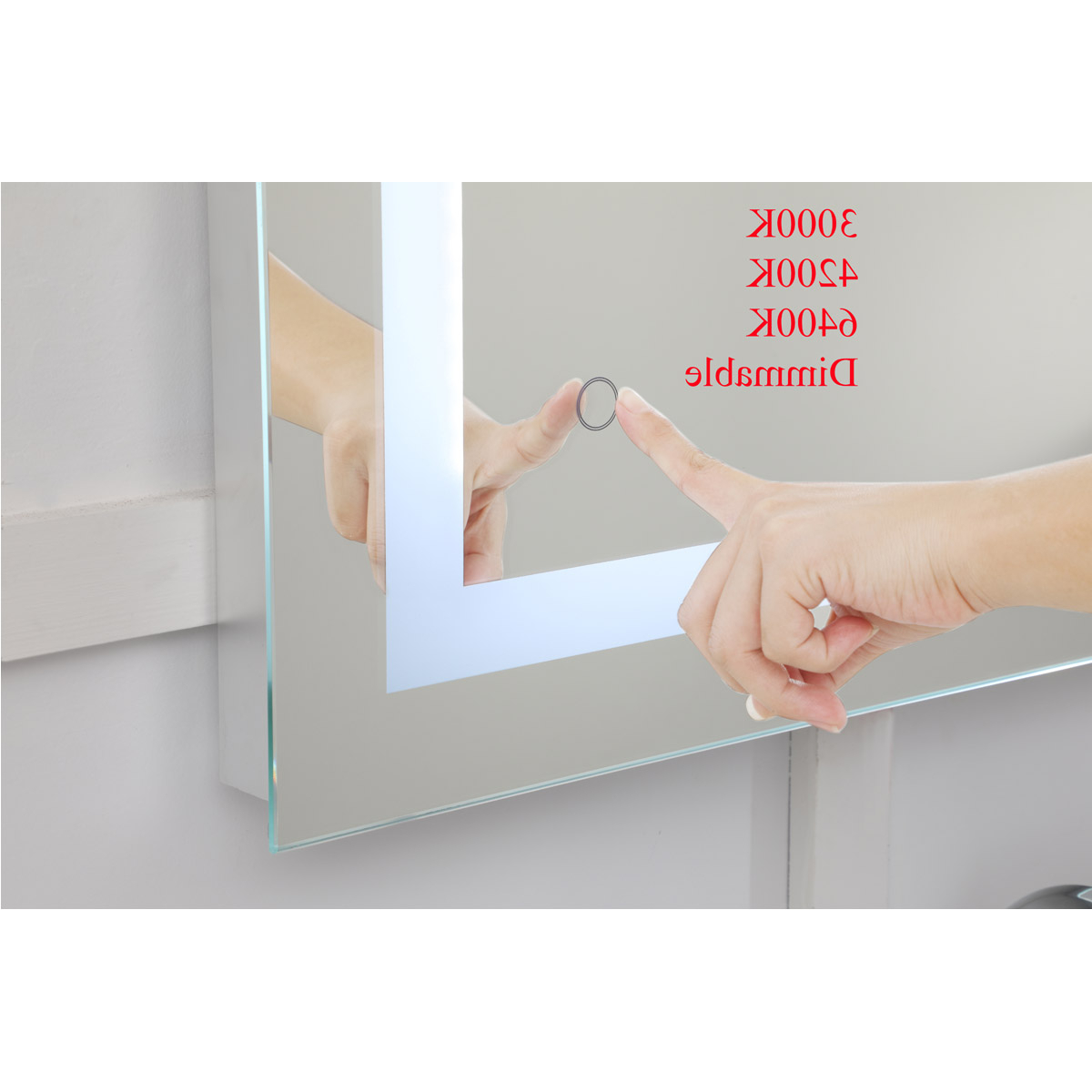 Elegant Wall Mirrors Pertaining To Latest Elegant Lighting Mre13648 Helios 48 X 36 Inch Silver Lighted Wall Mirror (View 14 of 20)