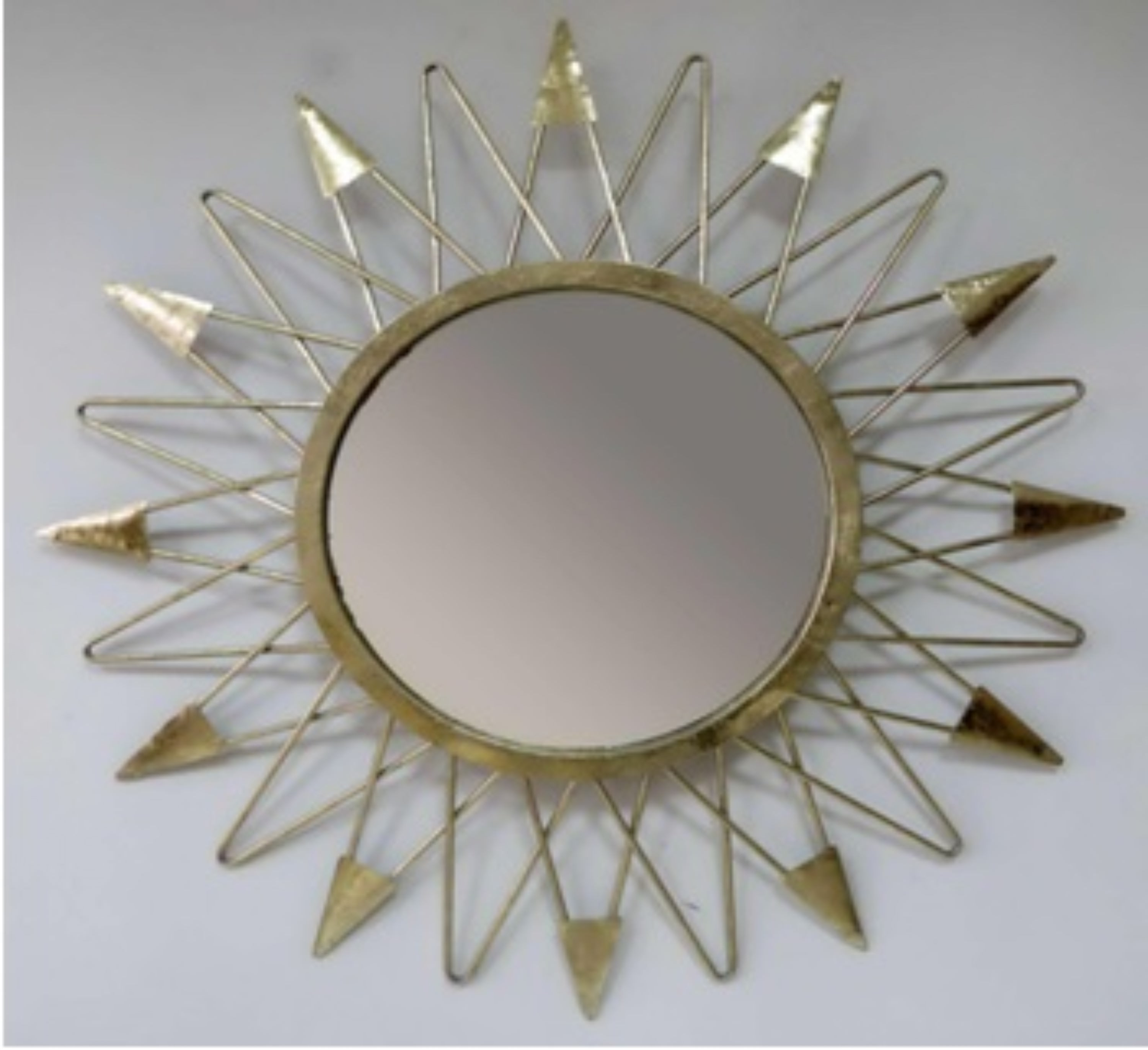 Elements 31 Inch Metal Antique Gold Sun Wall Mirror Within Best And Newest Sun Shaped Wall Mirrors (View 4 of 20)