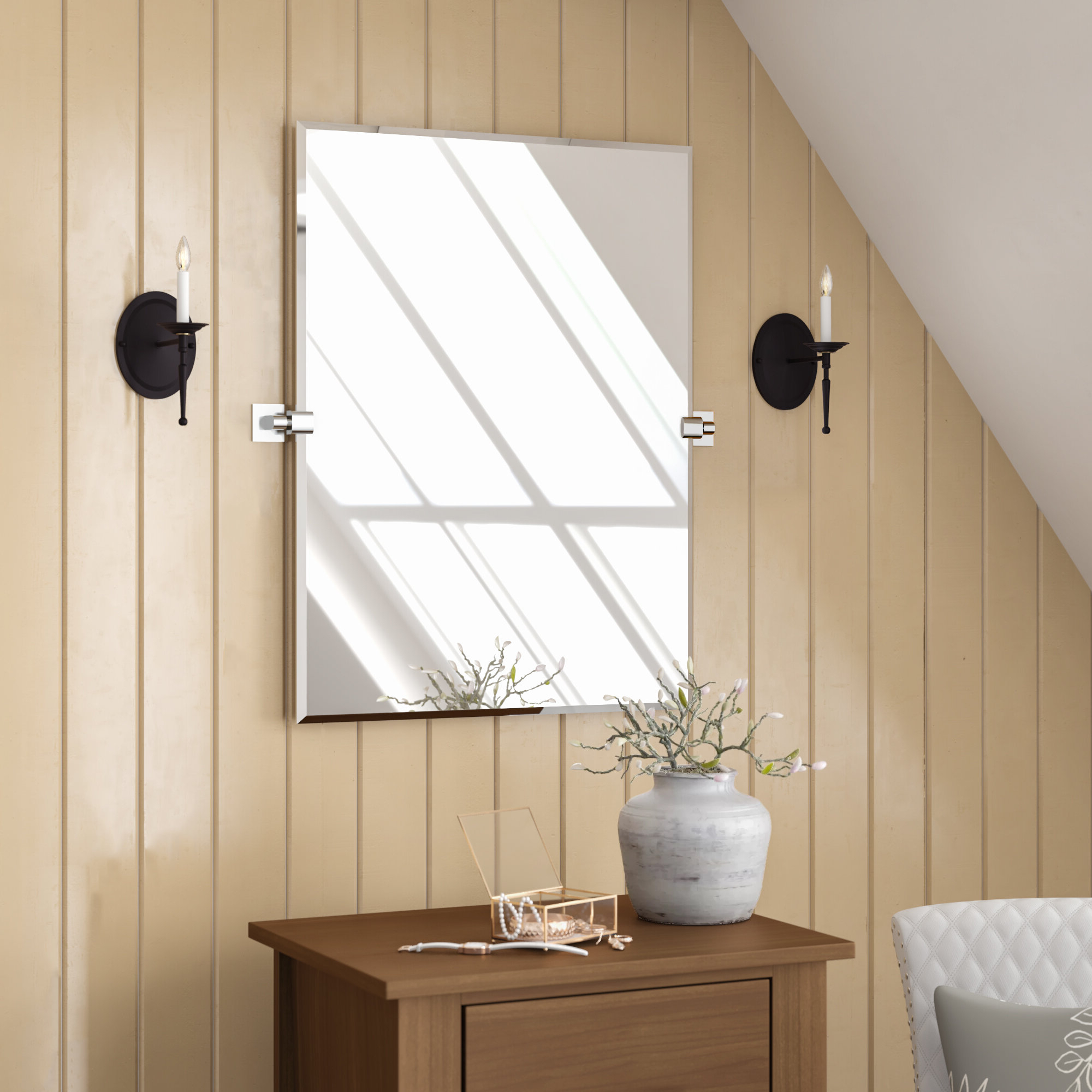 Elevate Wall Mirrors For Most Popular Gatco Elevate Wall Mirror & Reviews (Gallery 3 of 20)