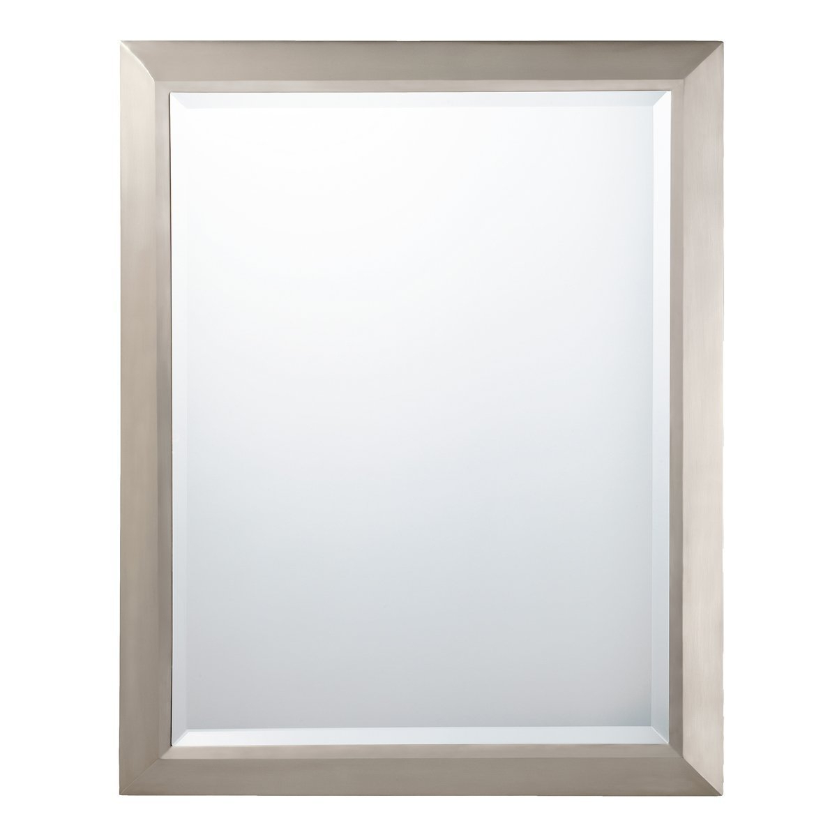 "Elevate Wall Mirrors Inside Preferred Kichler Lighting 41011Ni Rectangular Wall Mirror Brushed Nickel, 24"" W X 30"" H, (View 16 of 20)"