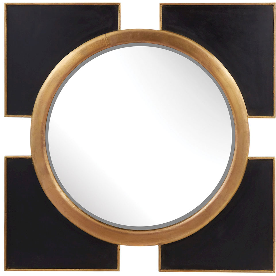 Elk Home 985 004 Contemporary Black, Gold Wall Mirror Within Recent Contemporary Black Wall Mirrors (Gallery 16 of 20)