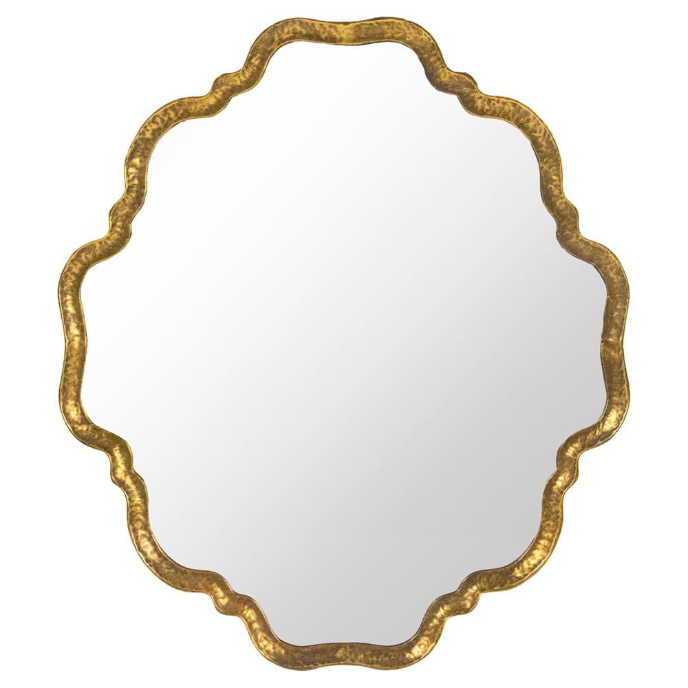 Ellison Hollywood Regency Scalloped Gold Wall Mirror For Preferred Gold Wall Mirrors (View 12 of 20)