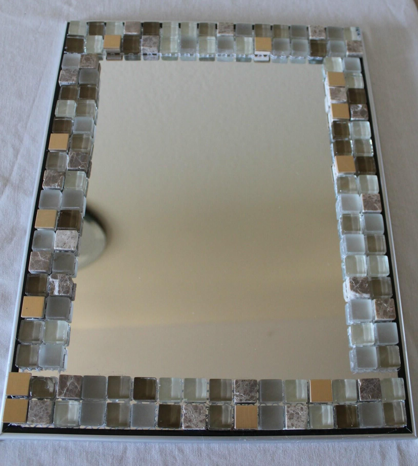 Enchanting Mirror Glass Africa Kit Diy Mosaic Mexican Border Regarding Newest Mexican Wall Mirrors (View 4 of 20)