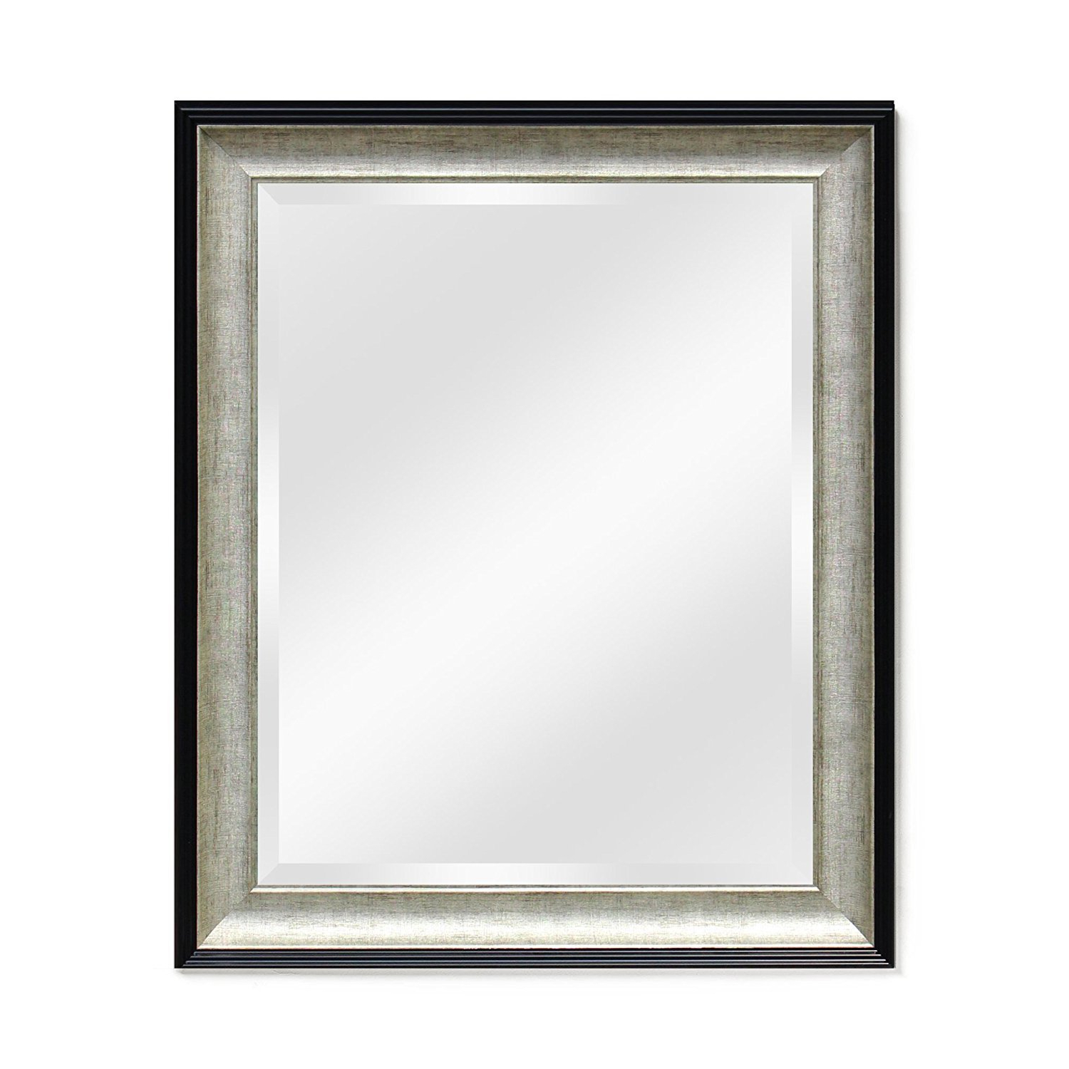 Entryway Wall Mirrors Regarding Current Wall Mirror – For Entryway Or Bathroom Wall Mounted Black Mirrors Ecohome (26x32, Black/silver) (View 10 of 20)