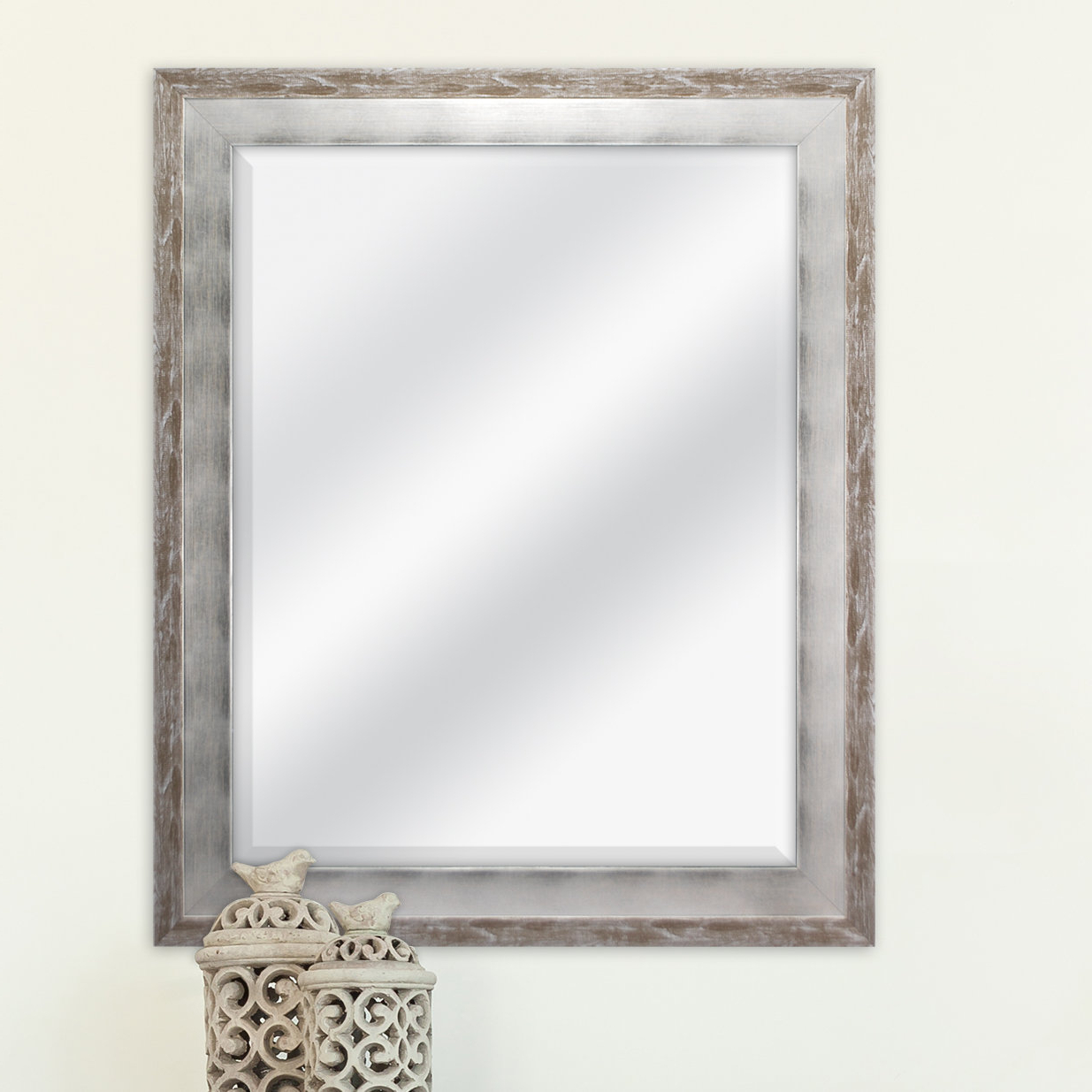 Eriq Framed Wall Mirrors In Well Known Epinal Shabby Elegance Wall Mirror (View 10 of 20)