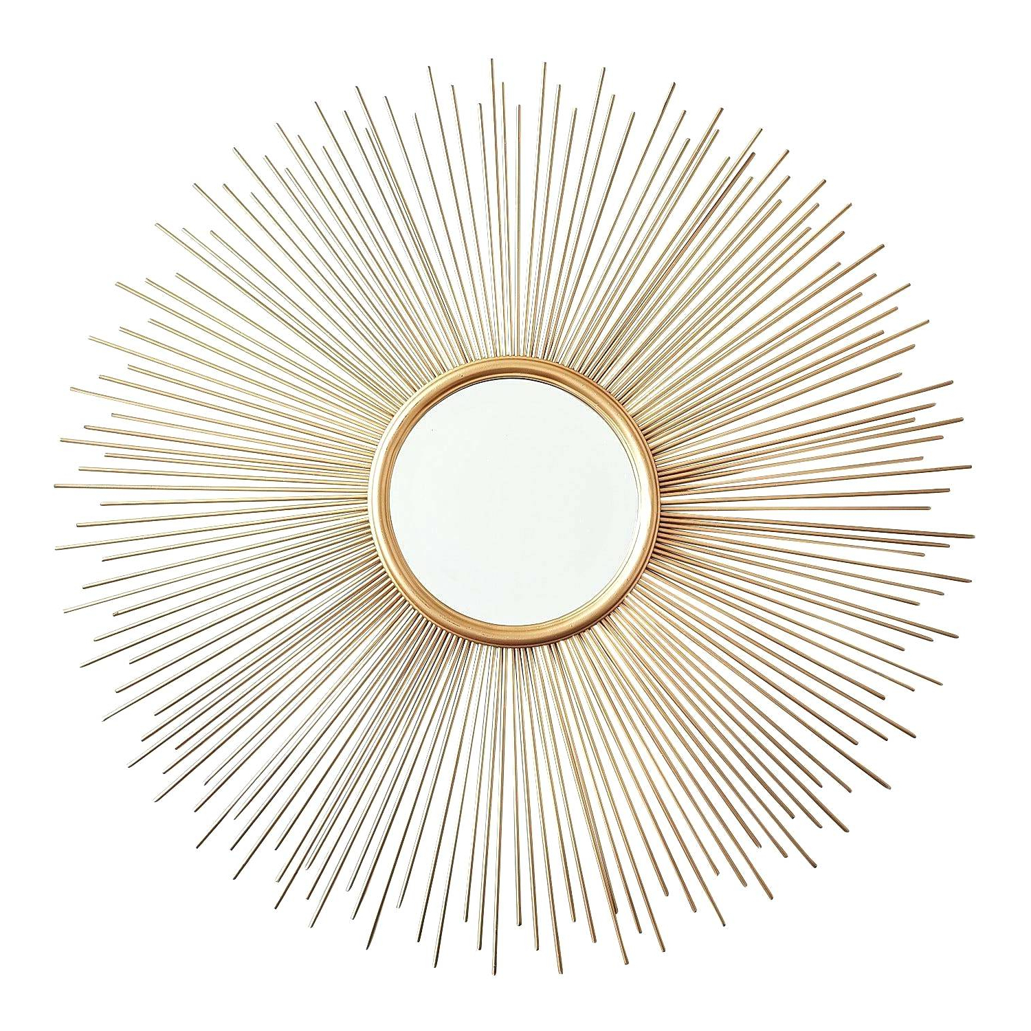 Estrela Modern Sunburst Metal Wall Mirrors With Best And Newest Metal Sunburst Mirror Save This Item To Sunburst Metal Mirror Wall (View 10 of 20)