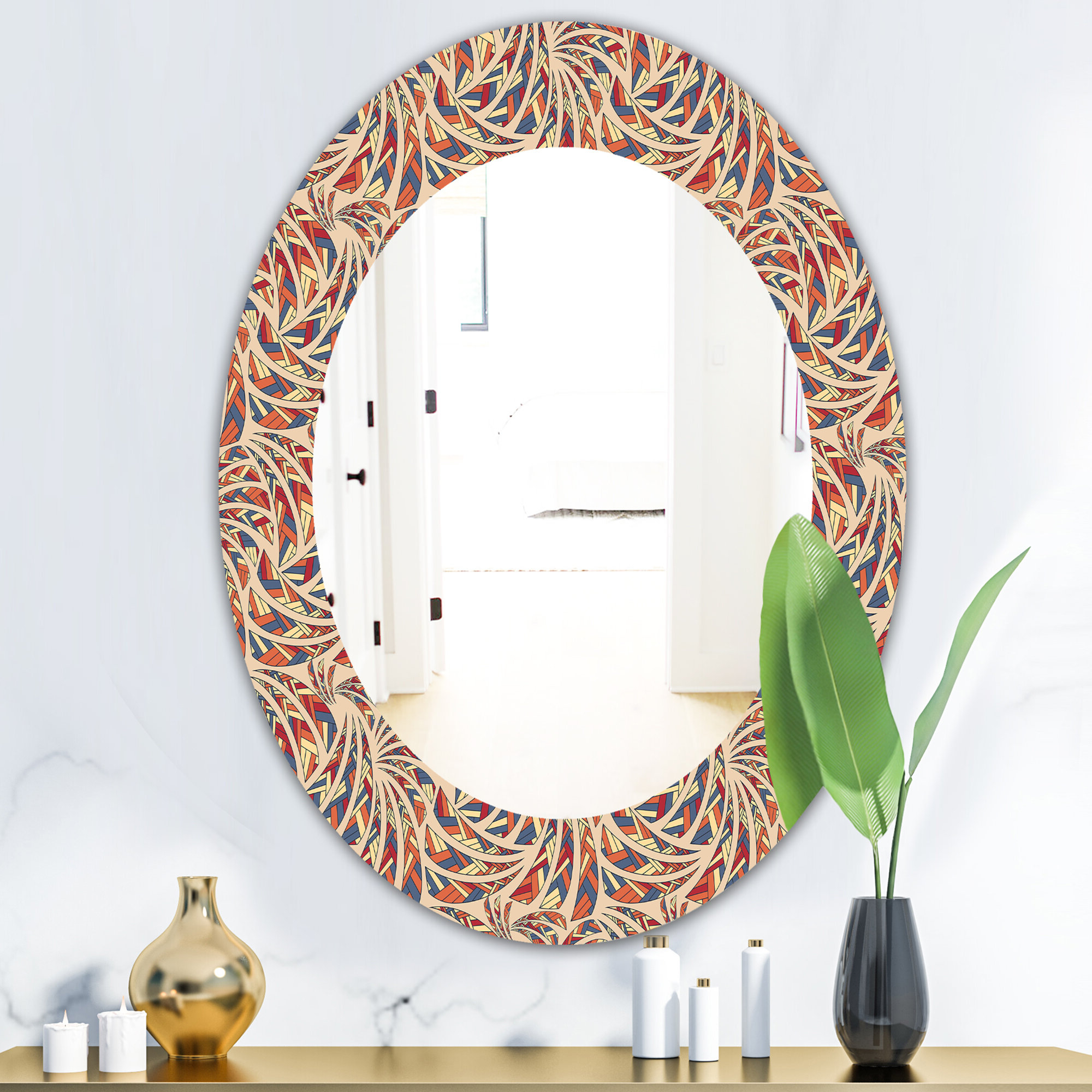 Ethnic Bohemian And Eclectic Frameless Wall Mirror With Regard To Popular Ethnic Wall Mirrors (View 3 of 20)