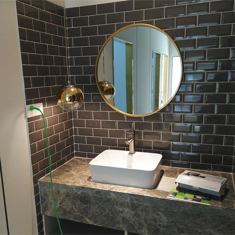European Luxury Bathroom Mirror Gold Round Mirror Makeup Mirror  Round Mirror Bathroom Wall Mirror Iron Mirror Lo68916 In Bath Mirrors From (Gallery 7 of 20)