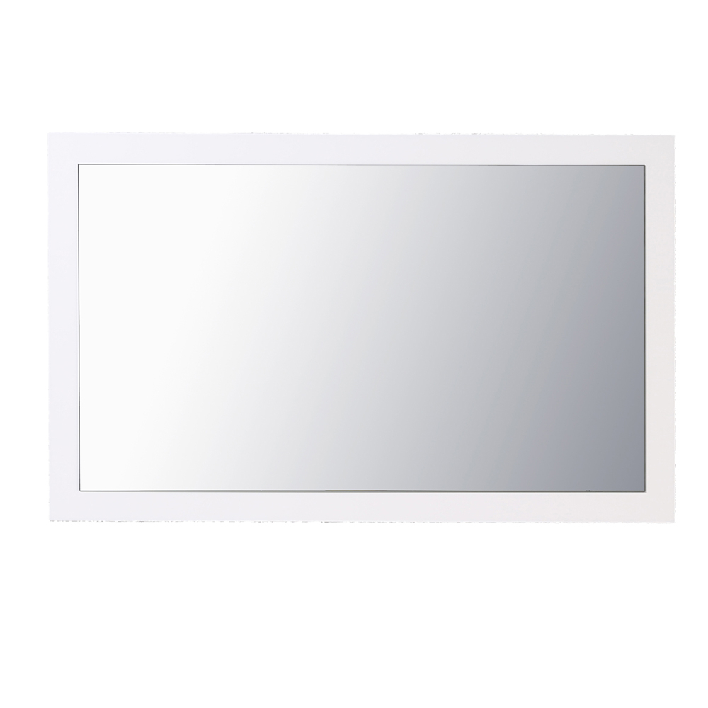"Eviva Sun 48"" Glossy White Full Framed Bathroom Wall Mirror With Regard To Favorite White Framed Wall Mirrors (View 15 of 20)"