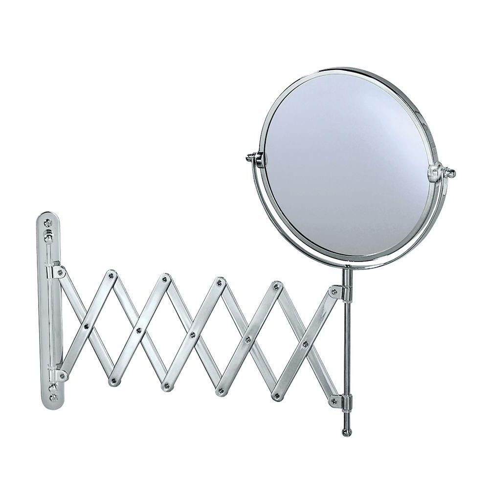 Extendable Wall Mirrors Throughout Most Recent Gatco Premier 16 In. L X 24 In. W Accordion Makeup Mirror (Gallery 7 of 20)