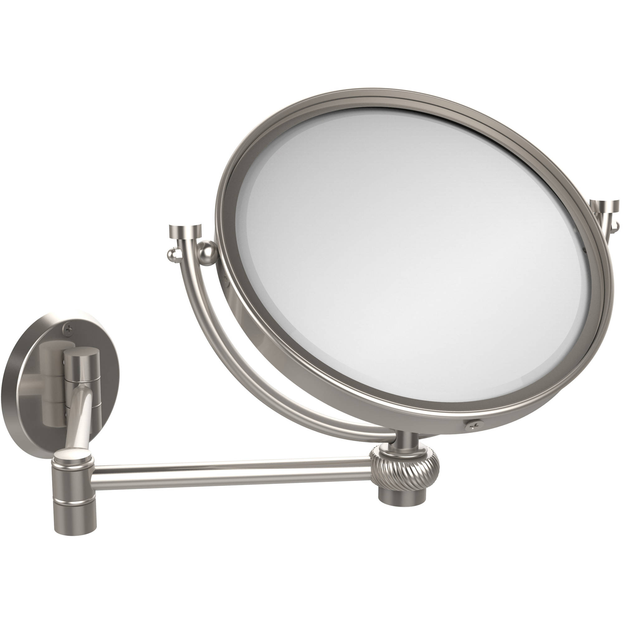 "Extending Wall Mirrors For Fashionable 8"" Wall Mounted Extending Make Up Mirror, 4X Magnification With Twist  Accent (Build To Order) (View 7 of 20)"
