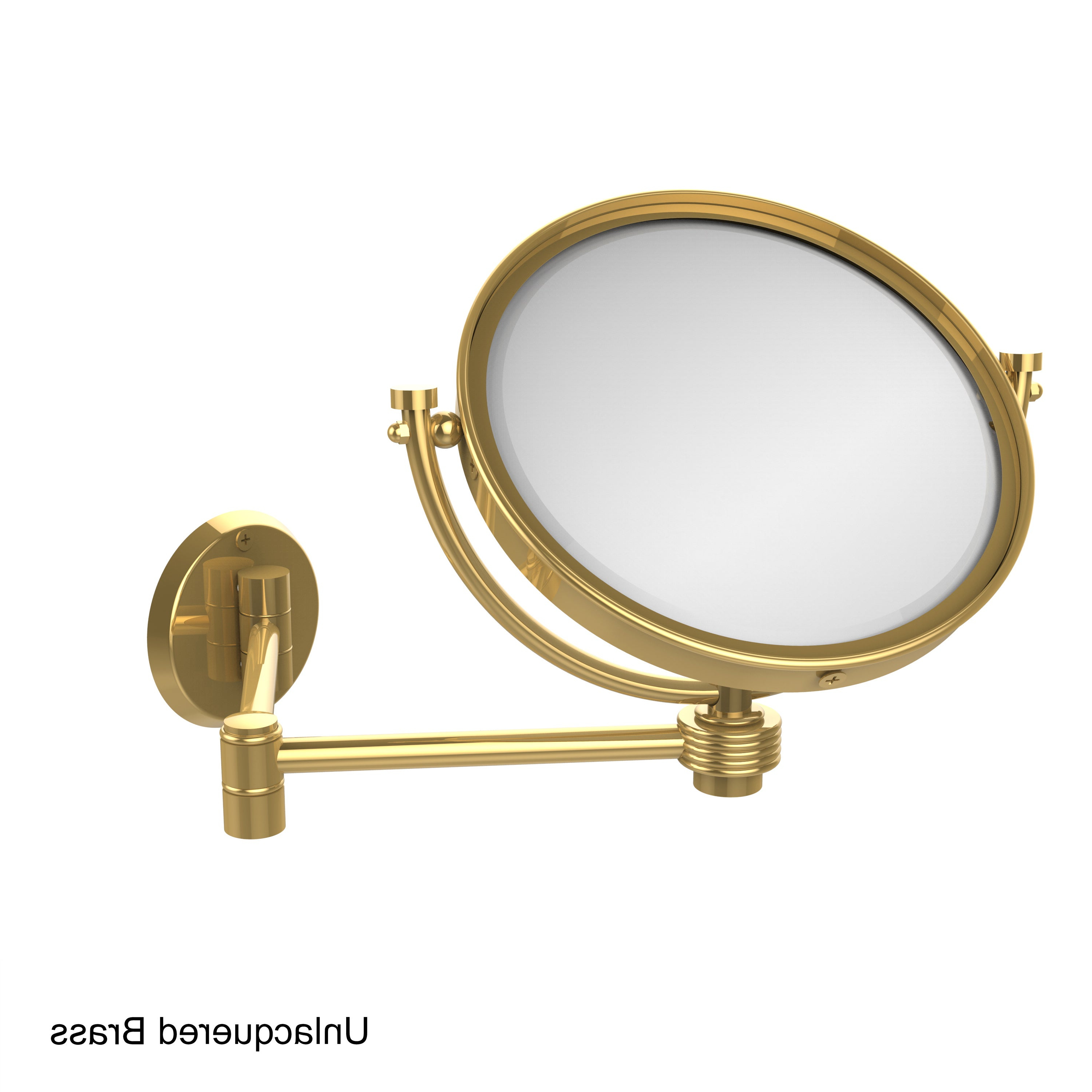 Extending Wall Mirrors Regarding Most Recent Allied Brass 8 Inch Wall Mounted Extending 2X Magnification Makeup Mirror  With Groovy Accent (Gallery 14 of 20)