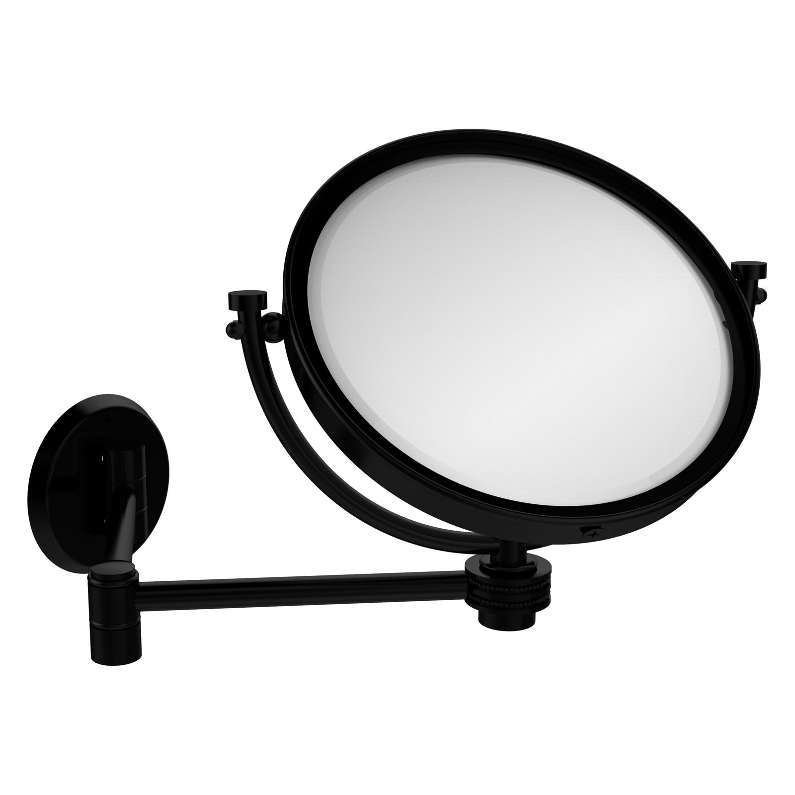 Extending Wall Mirrors Throughout Best And Newest Allied Brass 8 In. Wall Mounted Extending Makeup Mirror 5X (Gallery 6 of 20)
