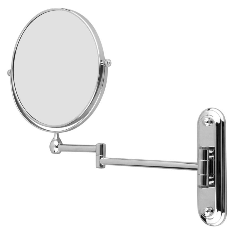 Extending Wall Mirrors With Most Popular 8 Inch Stainless Steel Wall Mounted Extending Folding Double Side 5x Magnification Makeup Mirror For (View 8 of 20)