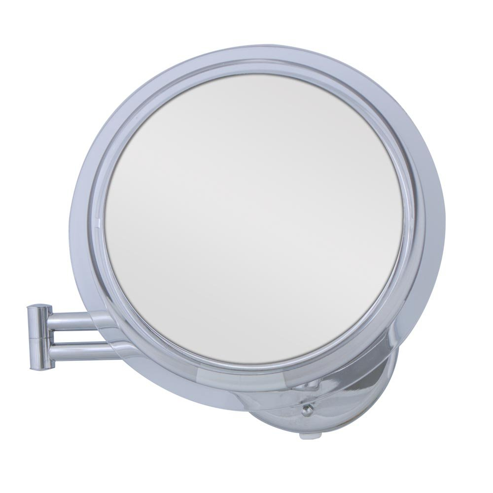 Extension Arm Wall Mirrors Intended For Famous Zadro 20 Inch 7X Mag Surround Lighted Fluorescent Dual Arm Extension Wall  Mirror, Chrome Finish (Gallery 13 of 20)
