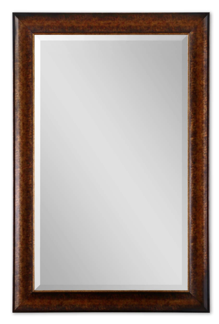 """Extra Large 58"""" Rustic Bronze Wall Mirror Pertaining To Most Recent Extra Large Framed Wall Mirrors (Gallery 11 of 20)"""