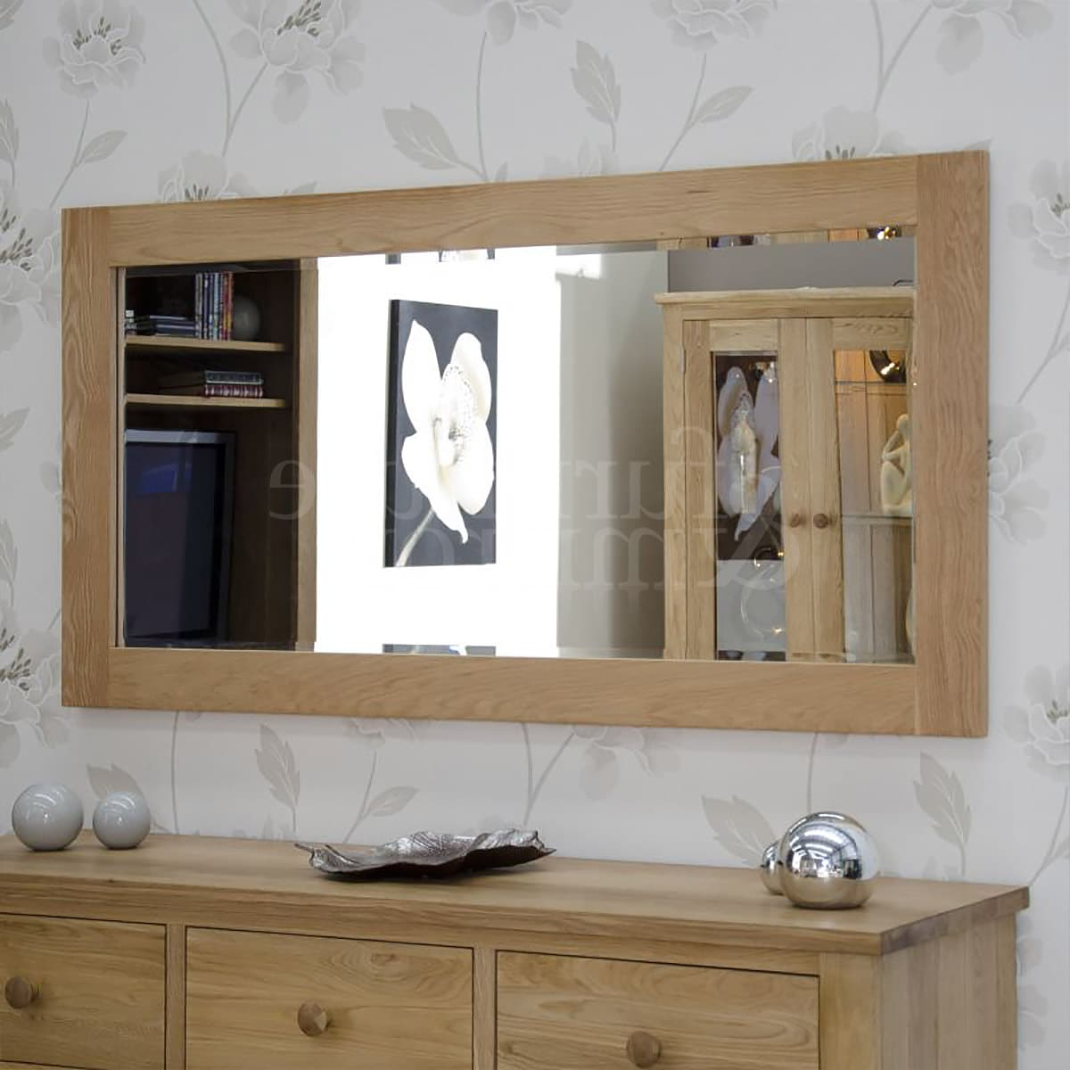 Extra Large Wall Mirrors In Well Known Oak Extra Large 150X75 Wall Mirror (View 5 of 20)