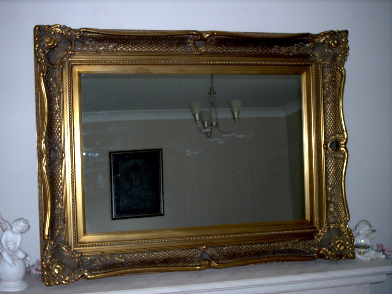 Fabulous Large Antique Gold Wall Mirror With Wide Decorative Frame Within Recent Large Vintage Wall Mirrors (View 19 of 20)