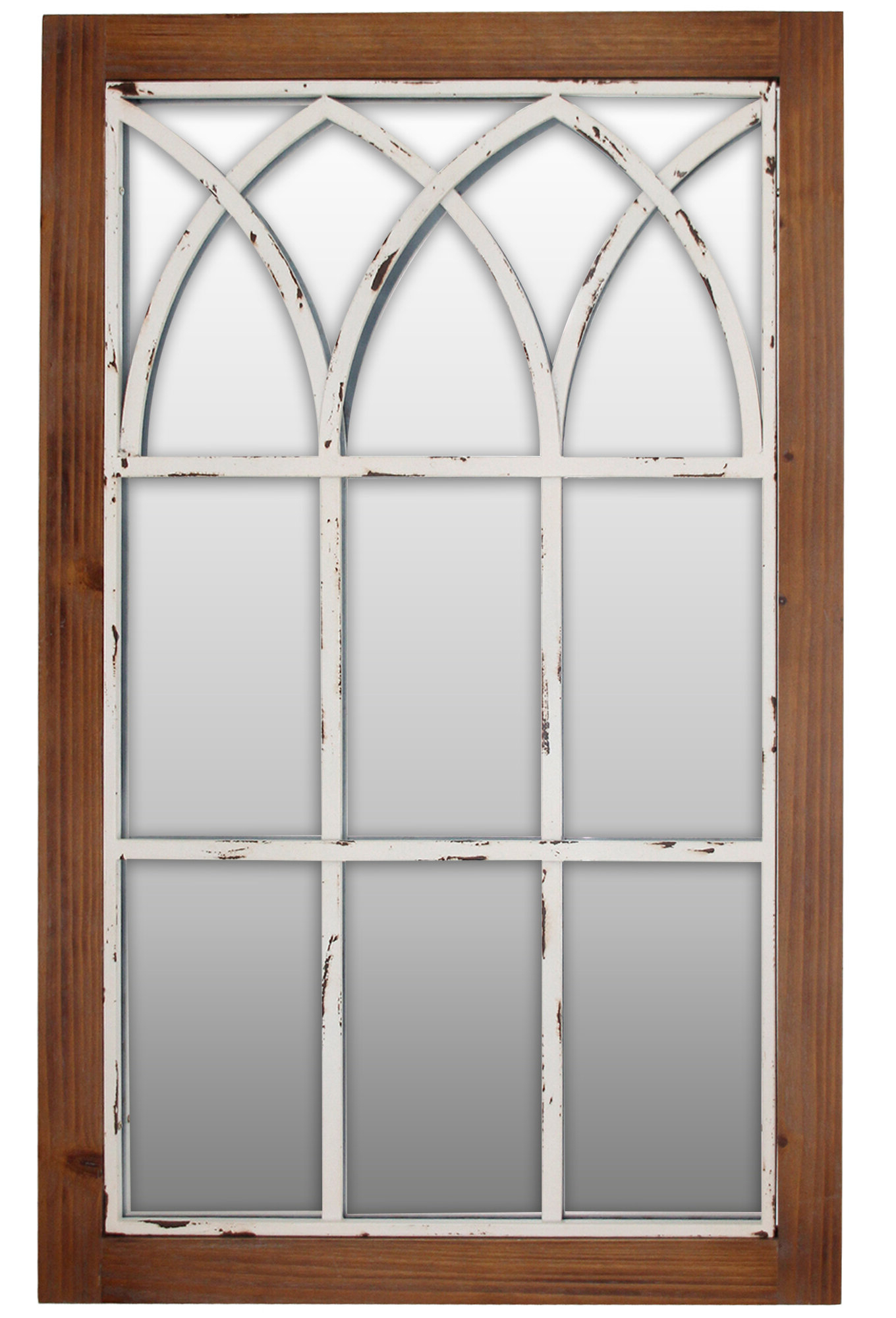 Famous 2 Piece Kissena Window Pane Accent Mirror Sets Regarding Embry Arched Window Traditional Accent Mirror (View 10 of 20)