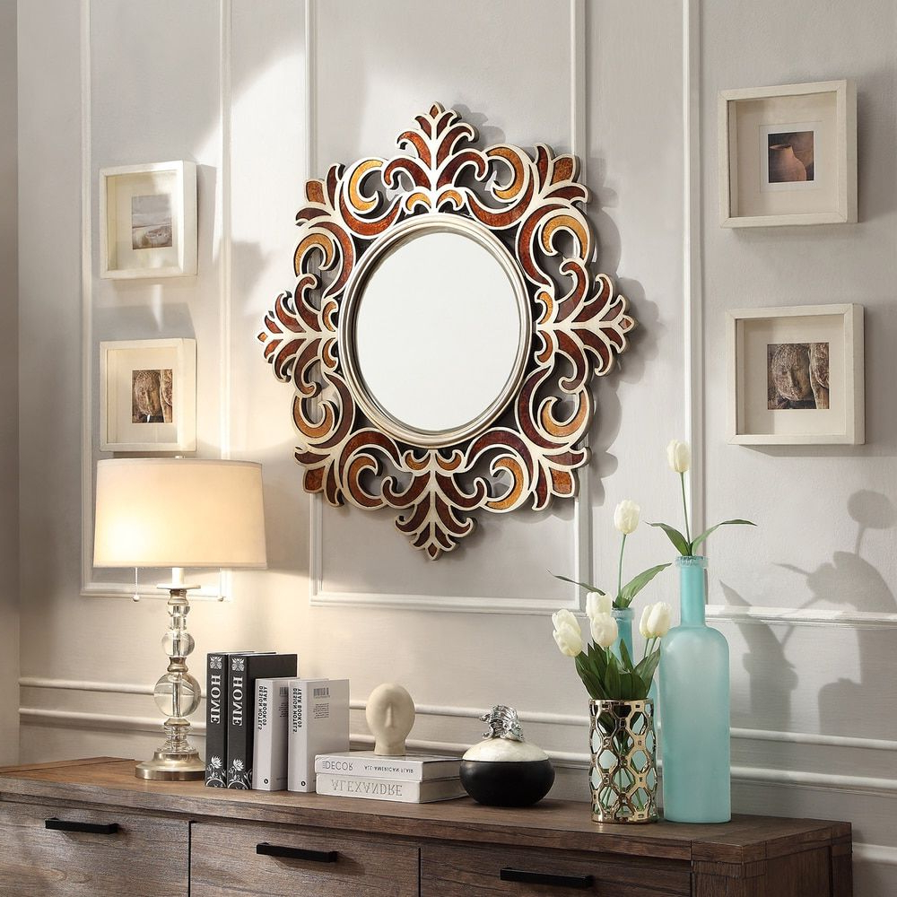Famous Accent Wall Mirrors Intended For Inspire Q Kiona Roccoco Frame Bronze Finish Accent Wall Mirror (View 7 of 20)