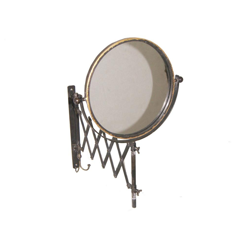 Famous Accordion Wall Mirrors Inside Sagebrook Home Decorative Accordion Wall Mount Mirror (View 7 of 20)